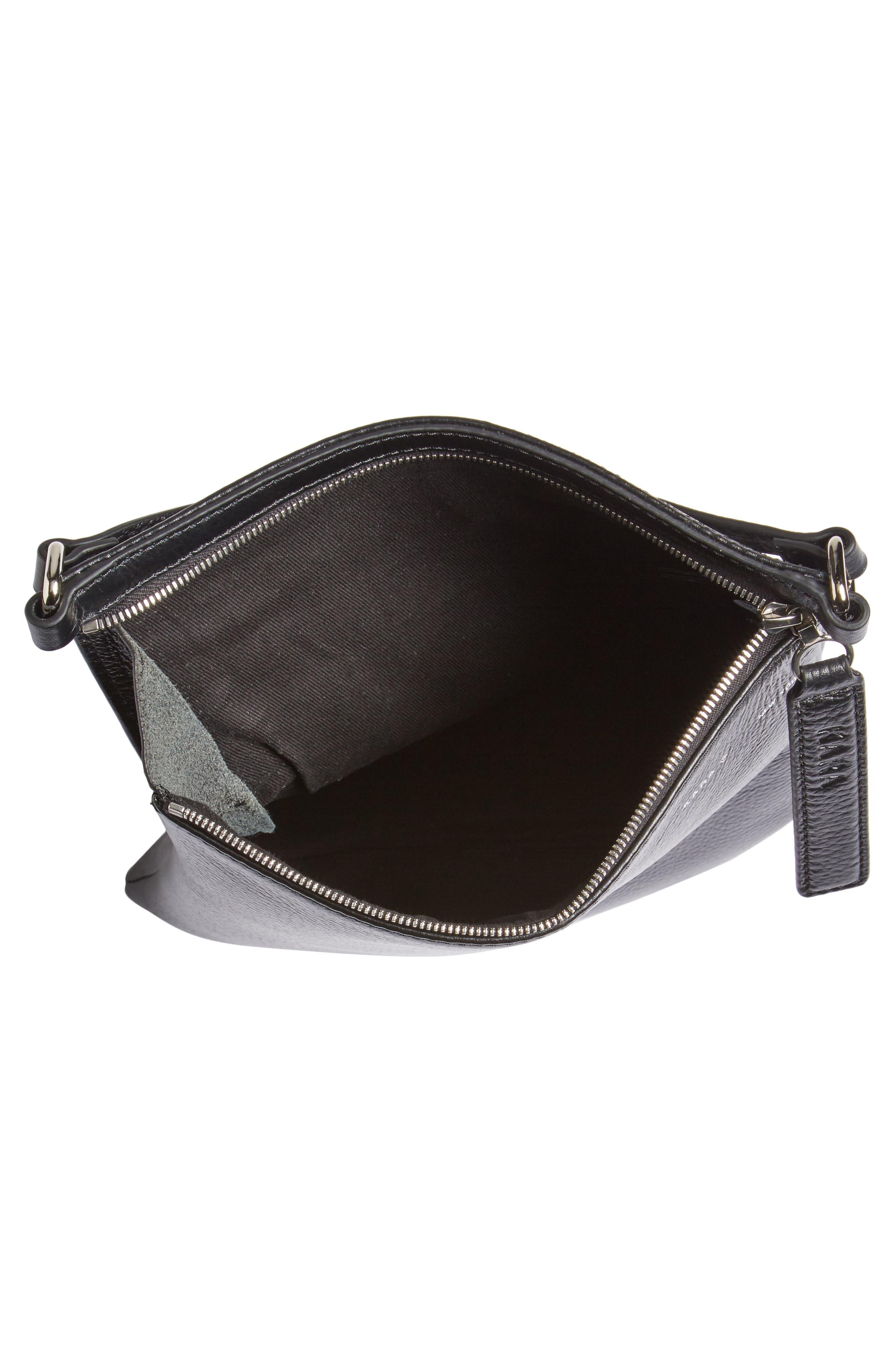 Belt Bag,                             Alternate thumbnail 5, color,                             BLACK LEATHER
