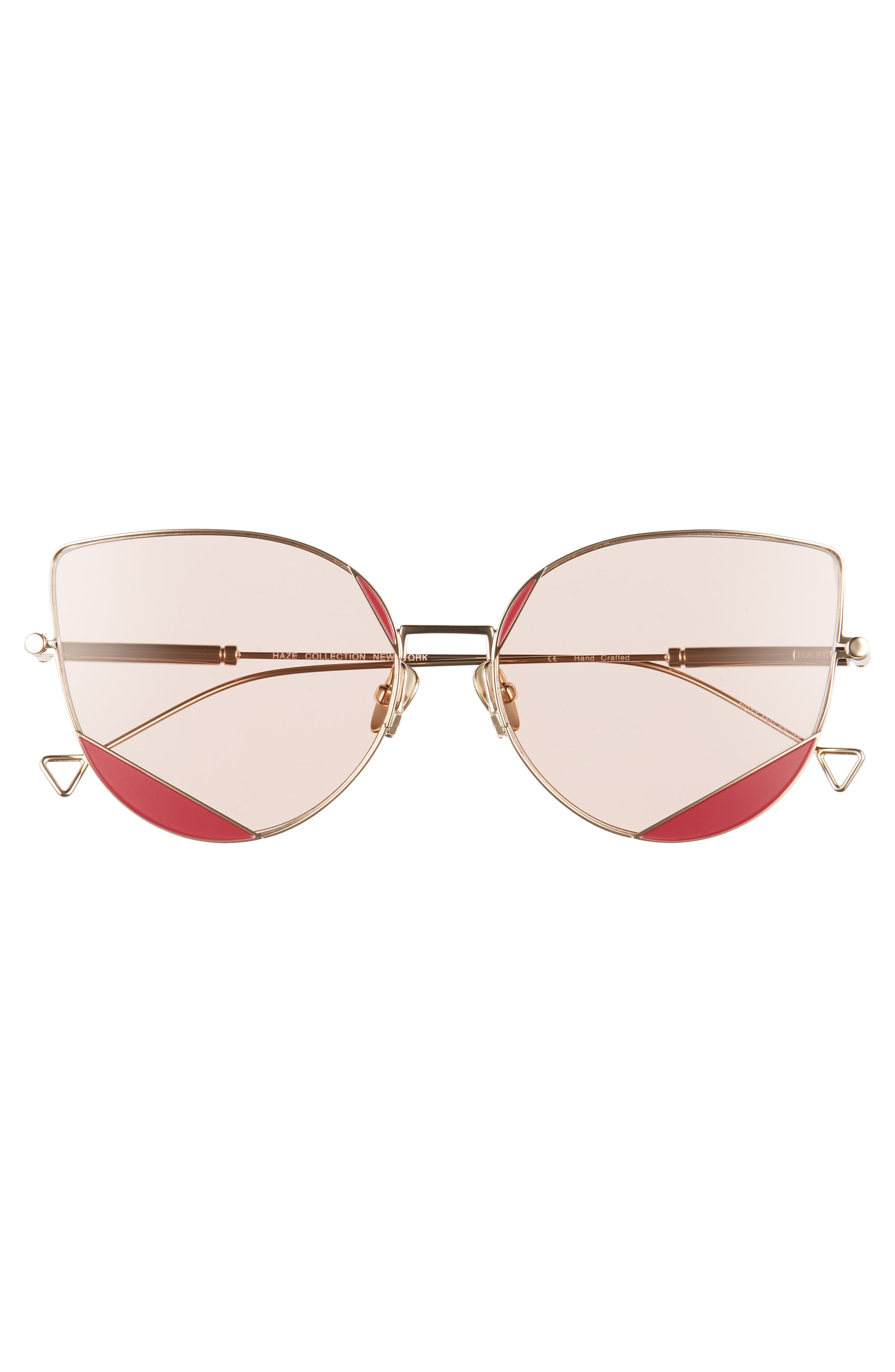 HAZE,                             The Nott 57mm Sunglasses,                             Alternate thumbnail 3, color,                             DEEP CLARET