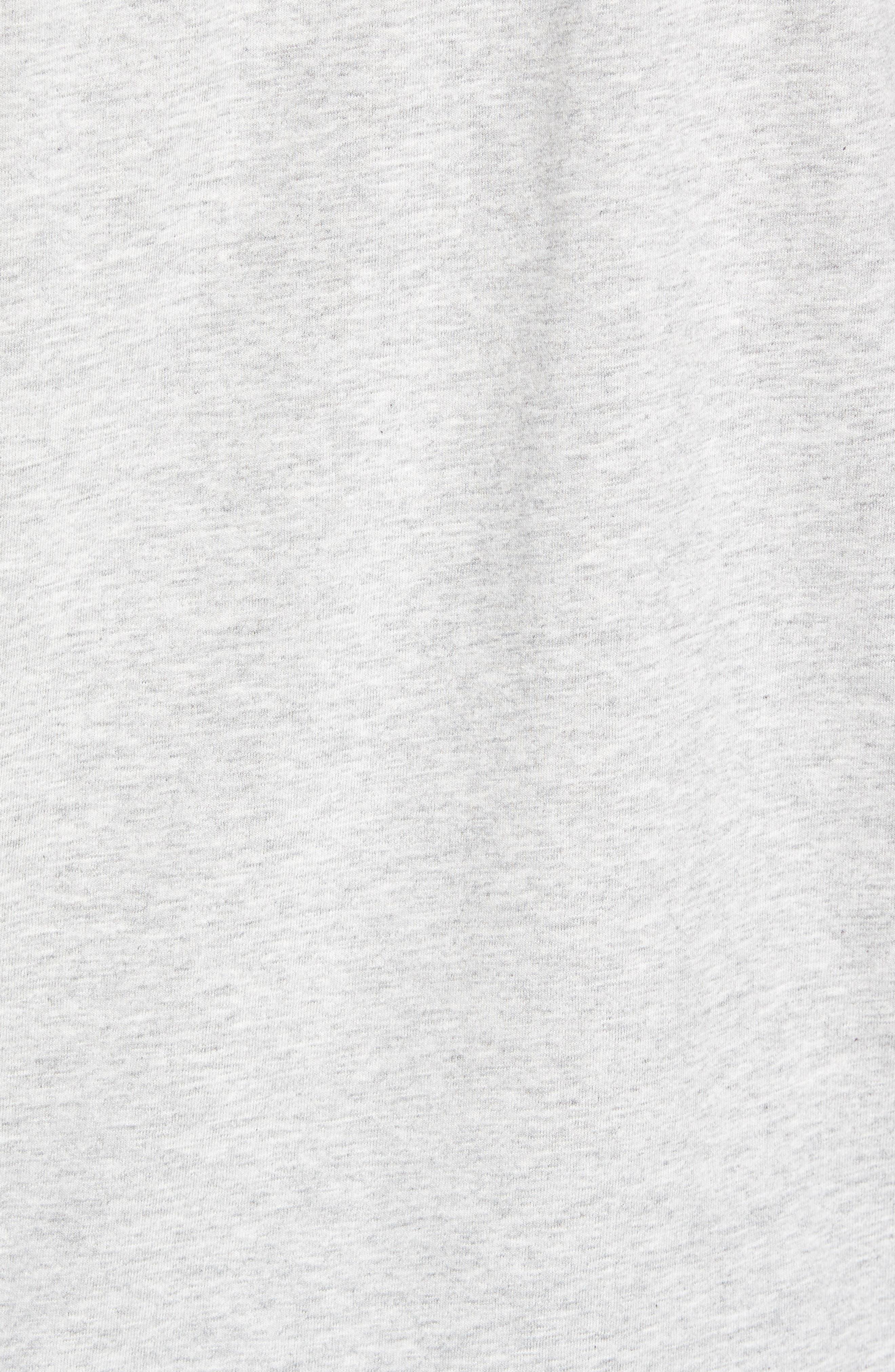 Whale Crewneck T-Shirt,                             Alternate thumbnail 5, color,                             GREY HEATHER