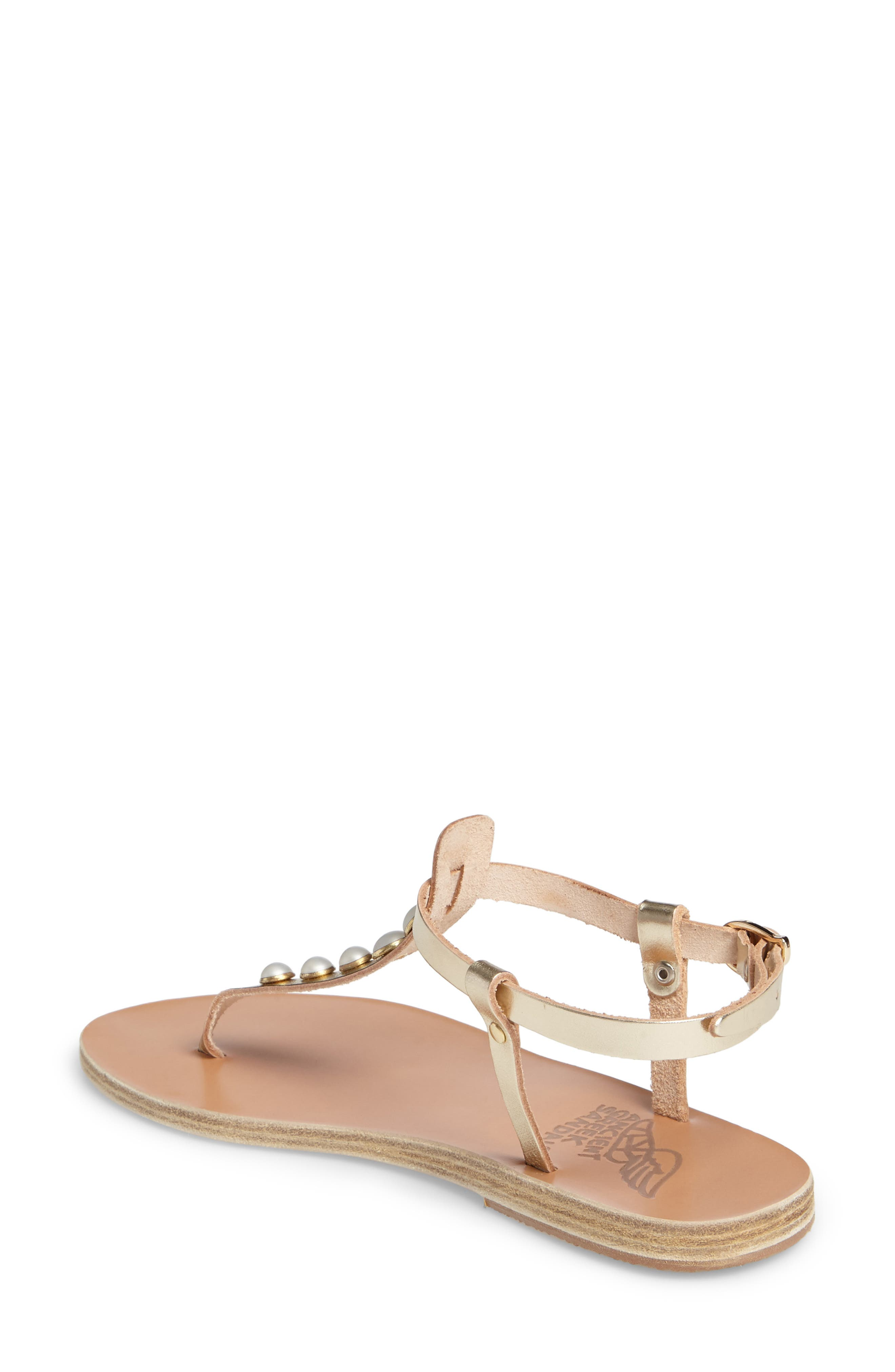 Lito Imitation Pearl Embellished T-Strap Sandal,                             Alternate thumbnail 2, color,                             040