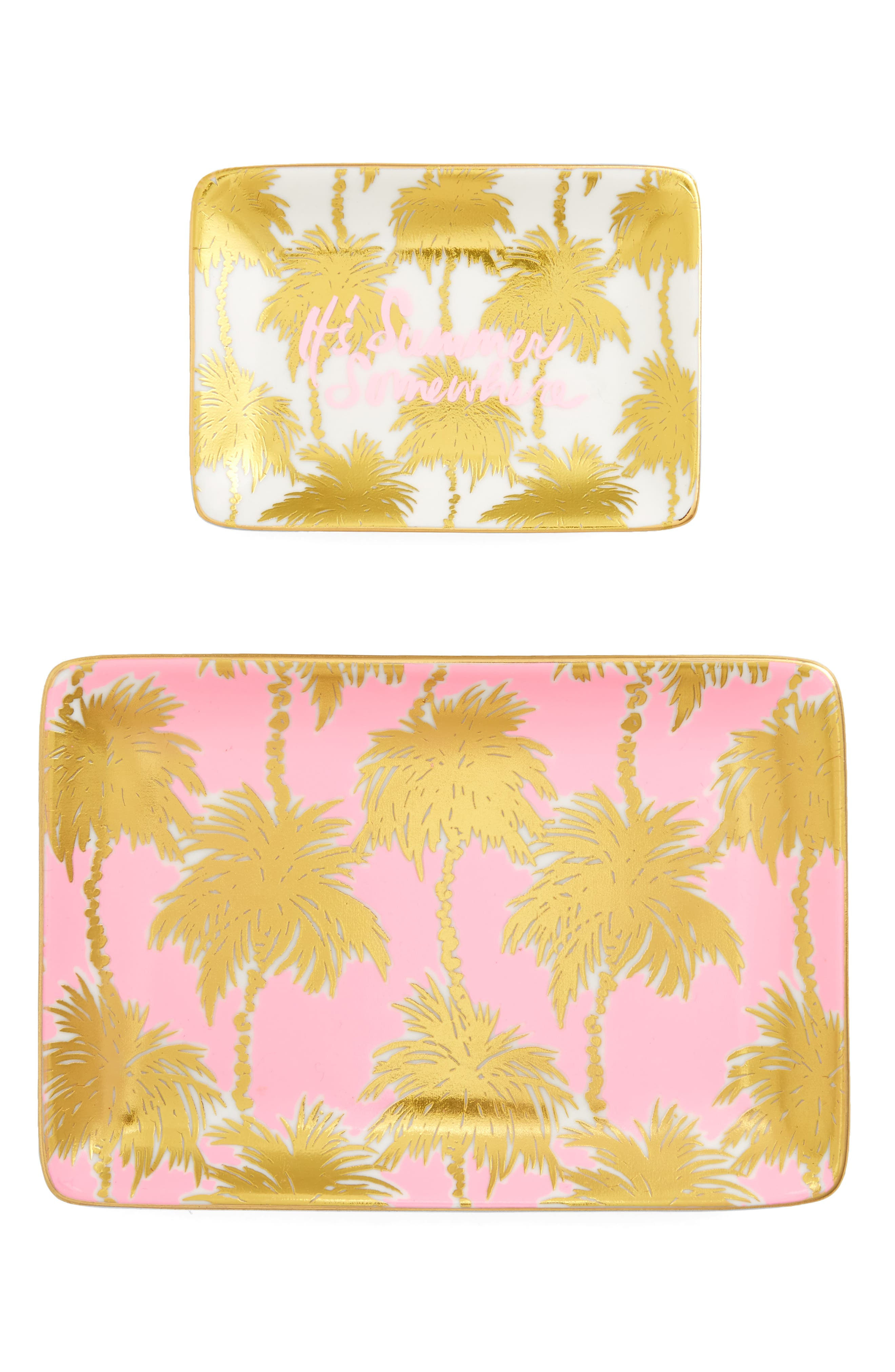 Set of 2 Ceramic Trinket Trays,                             Main thumbnail 2, color,