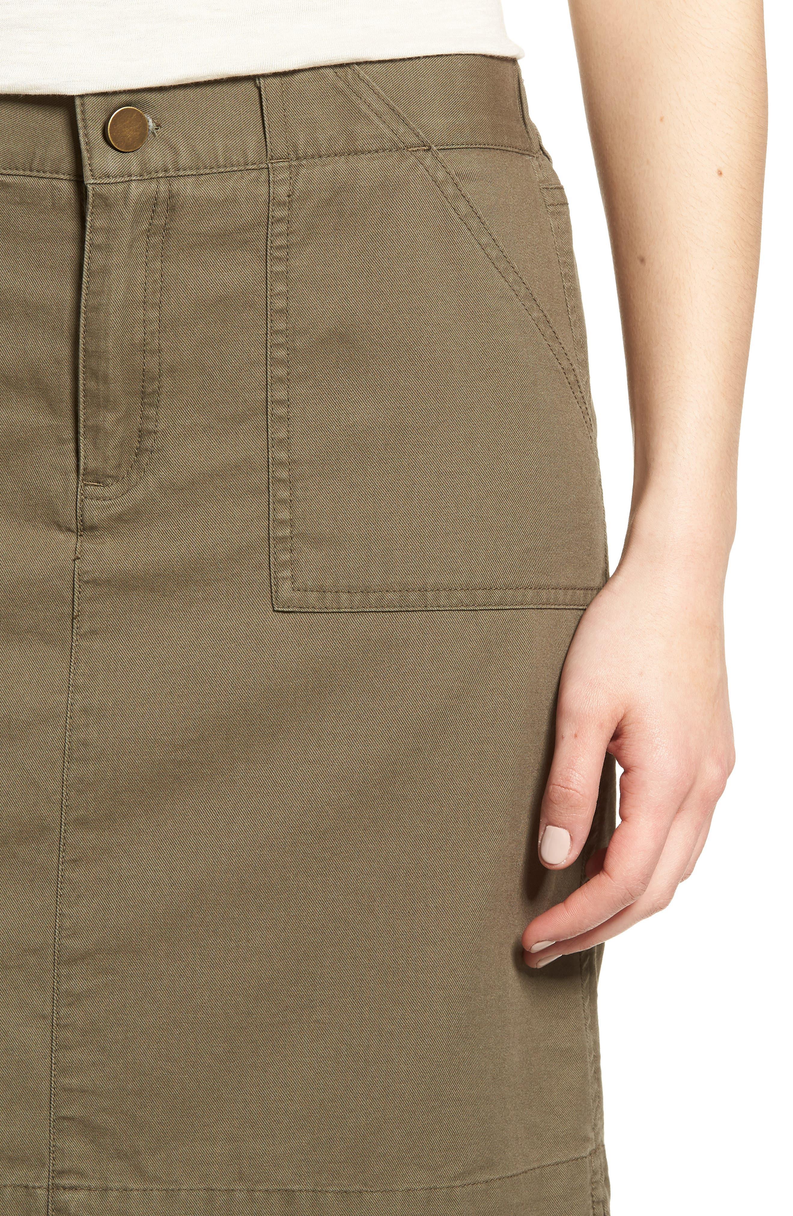Twill Utility Skirt,                             Alternate thumbnail 7, color,