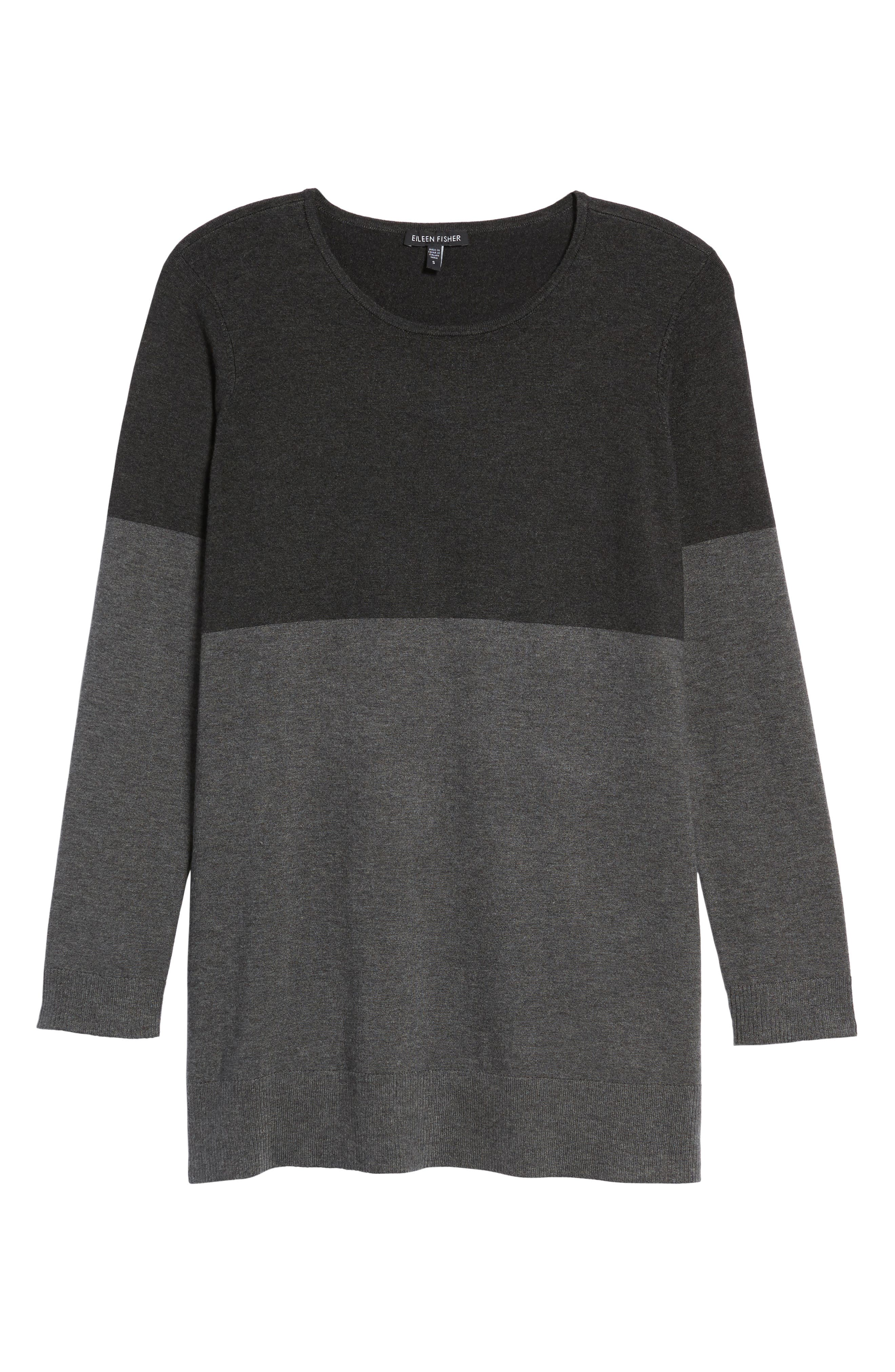 Colorblock Tencel<sup>®</sup> Blend Sweater,                             Alternate thumbnail 6, color,                             064
