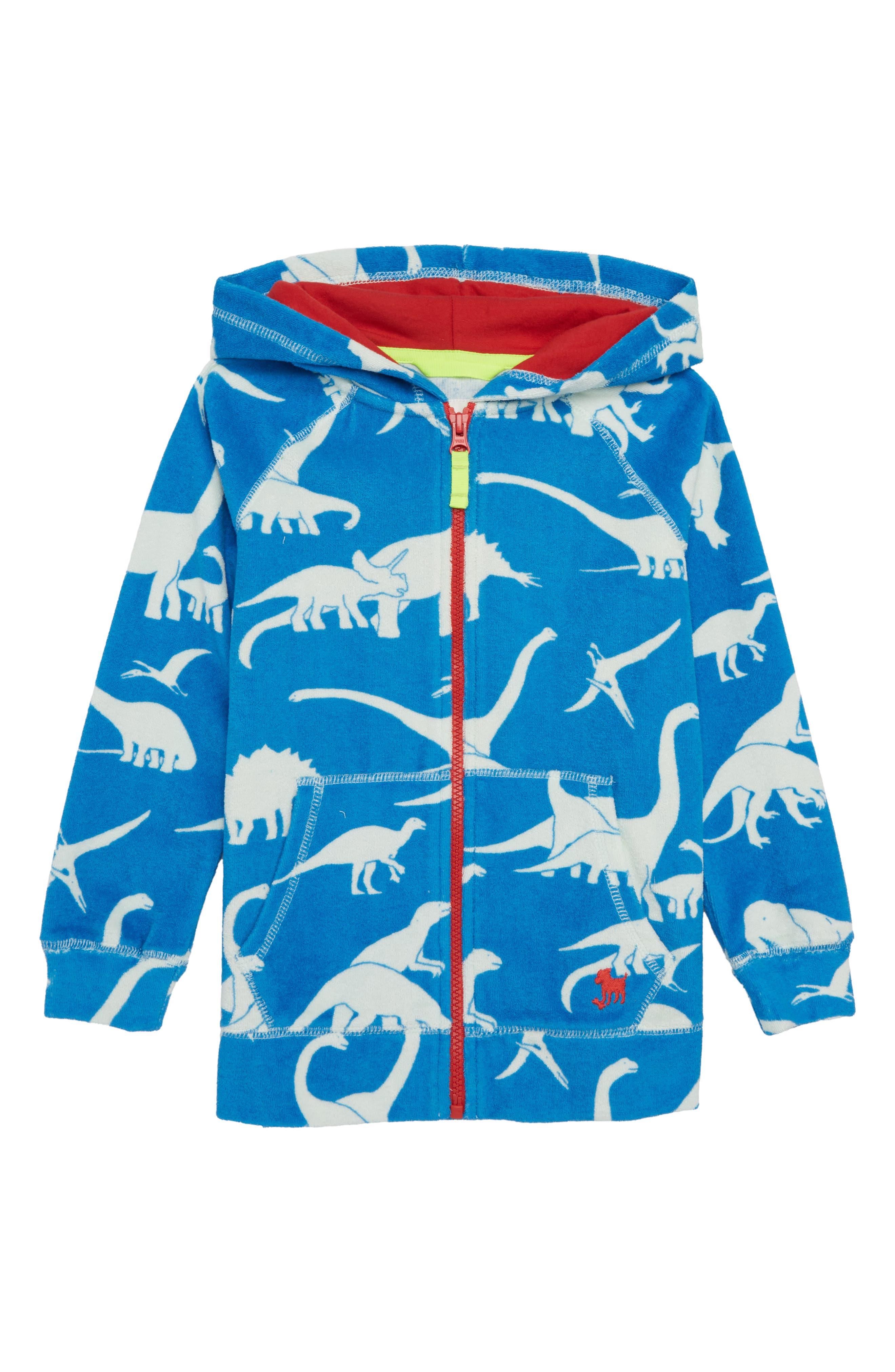 Dino Toweling Zip Hoodie,                         Main,                         color,