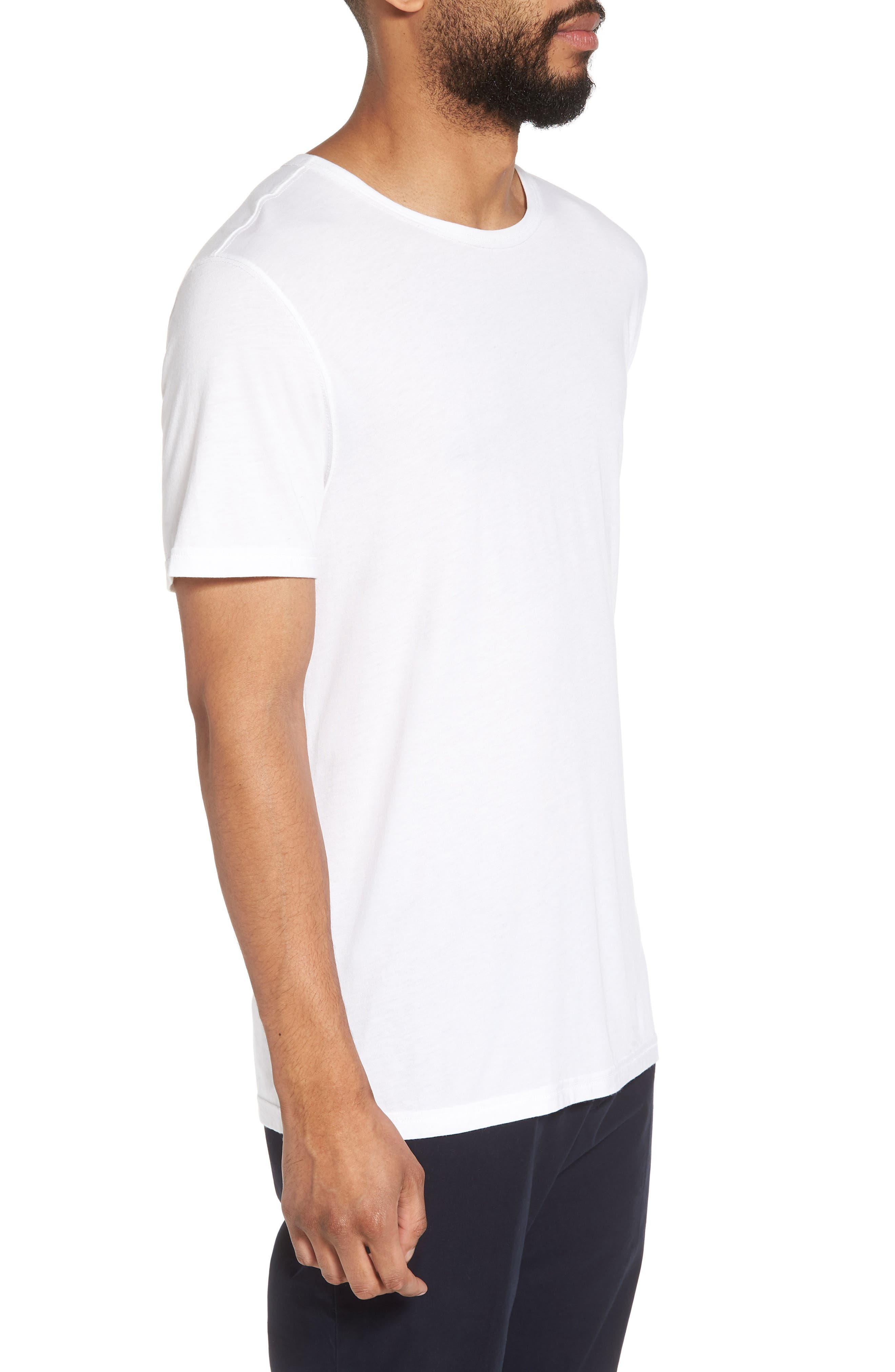 VINCE,                             Reverse Hem Slim Fit T-Shirt,                             Alternate thumbnail 3, color,                             100