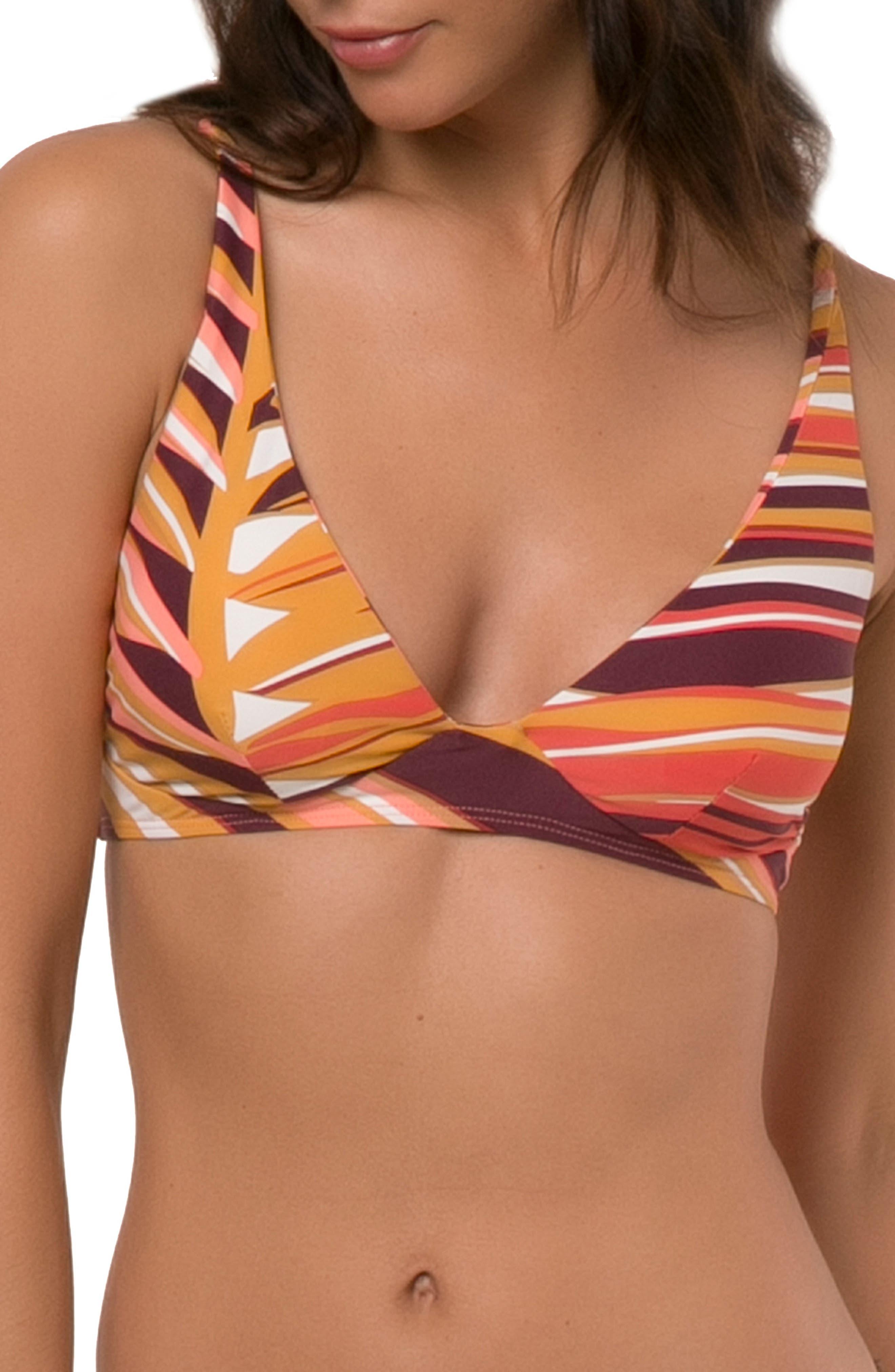 Anacapa Bikini Top,                             Main thumbnail 1, color,                             PURPLE MAUVE