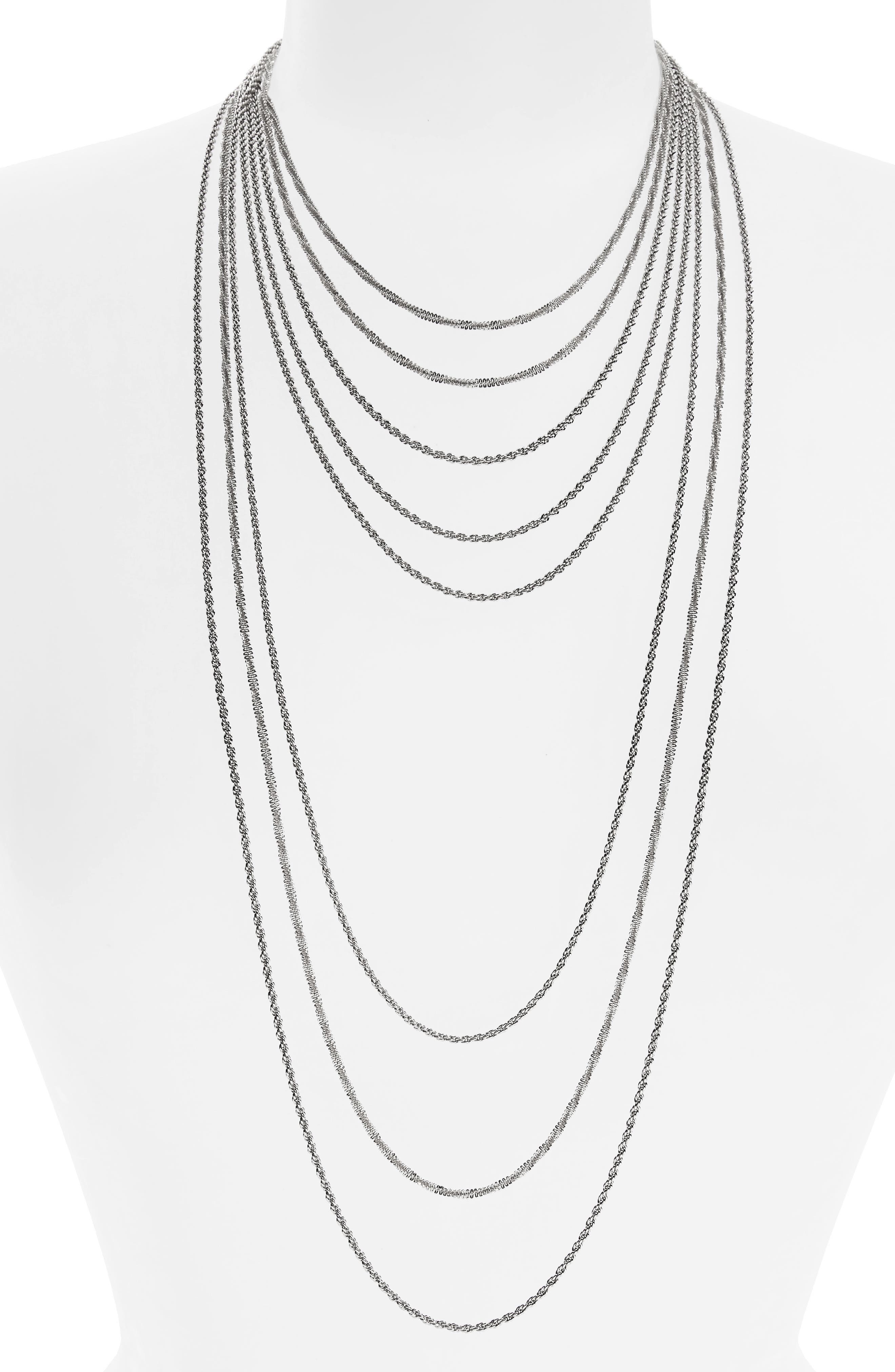 Multistrand Chain Necklace,                         Main,                         color, 040