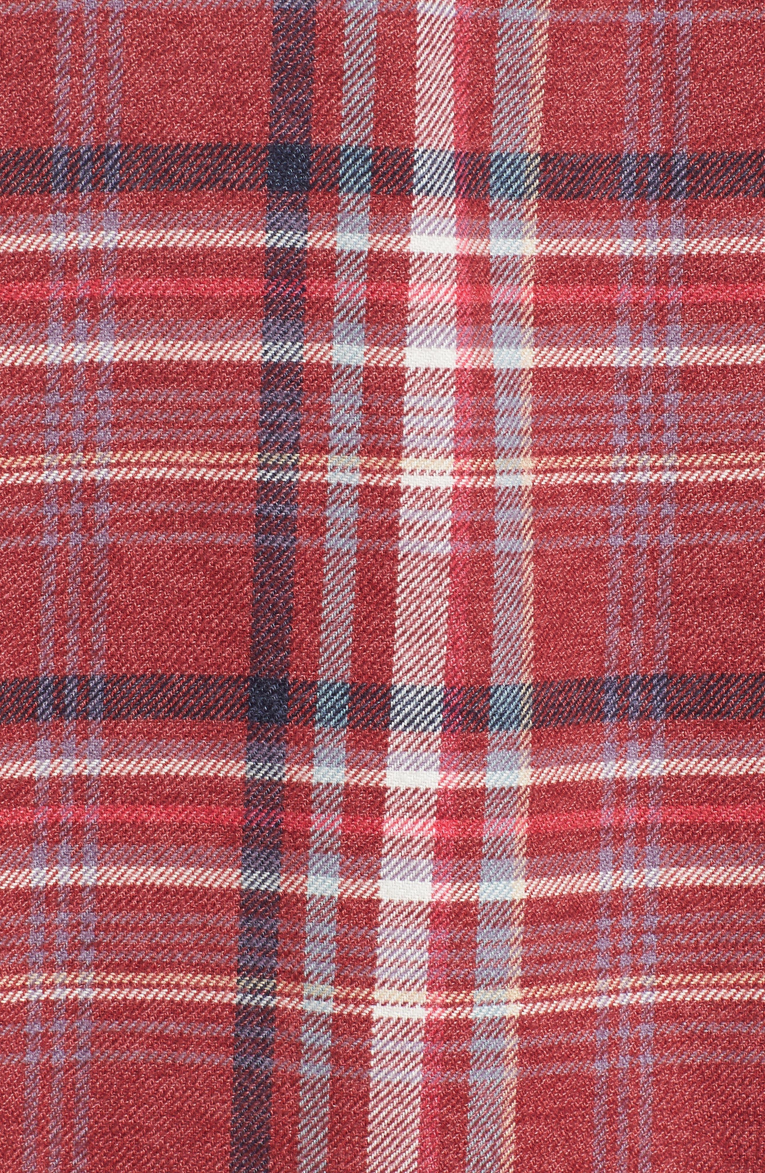 Milbrook Modern Fit Lux Flannel Sport Shirt,                             Alternate thumbnail 5, color,                             643
