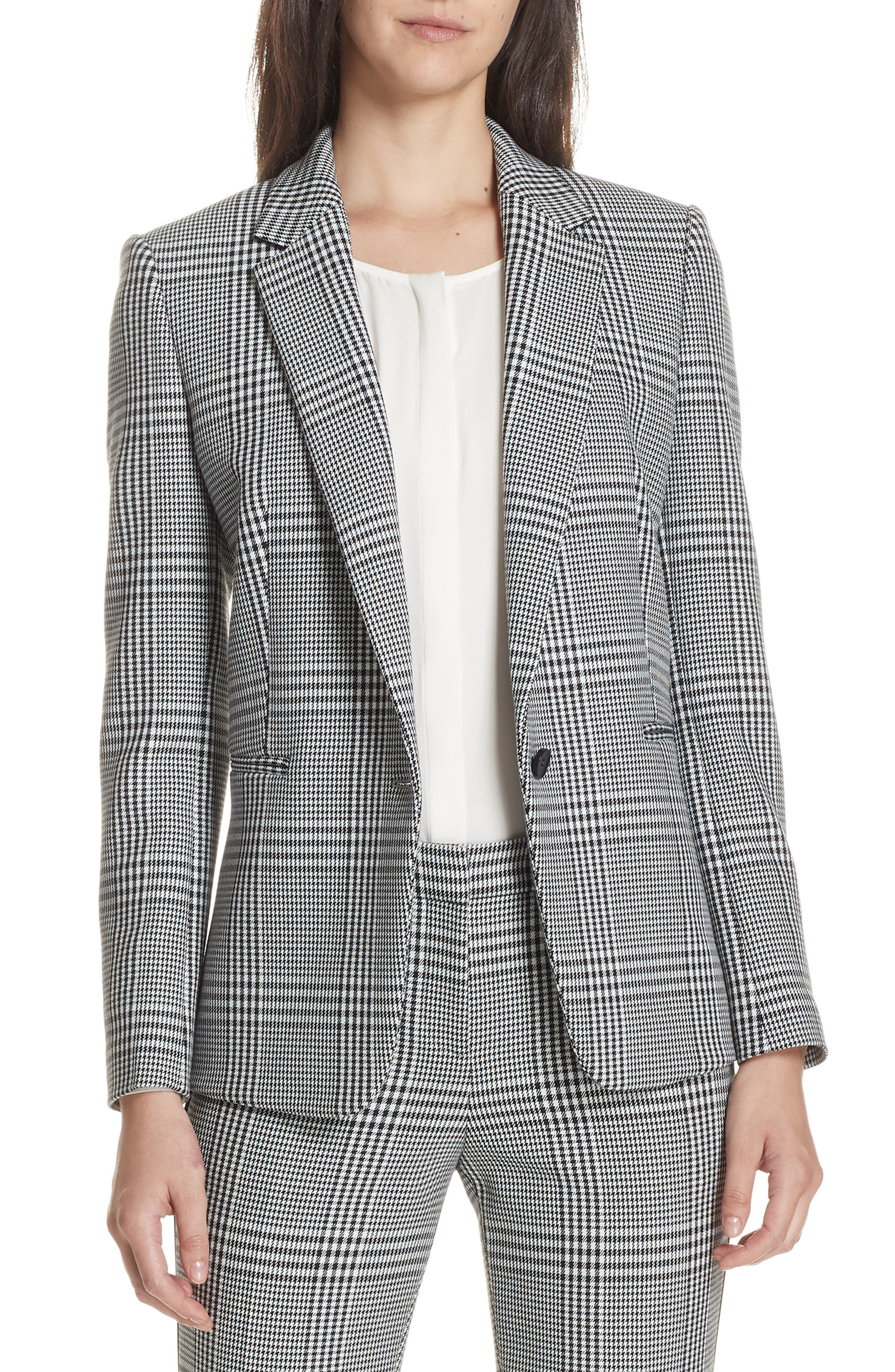Jemaromina Glen Plaid Suit Jacket,                             Main thumbnail 1, color,                             020