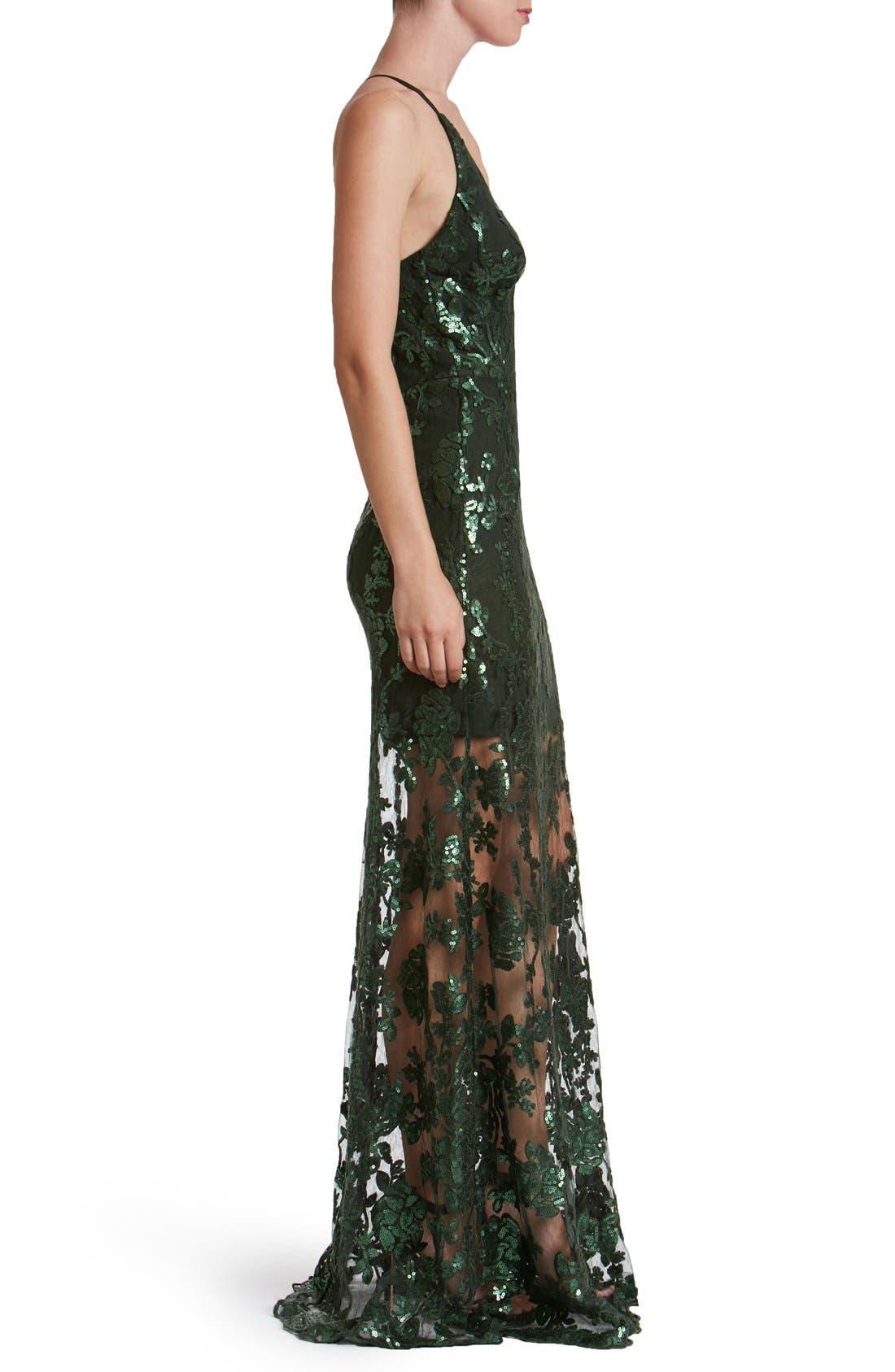 'Vivienne' Sequin Lace Gown,                             Alternate thumbnail 7, color,
