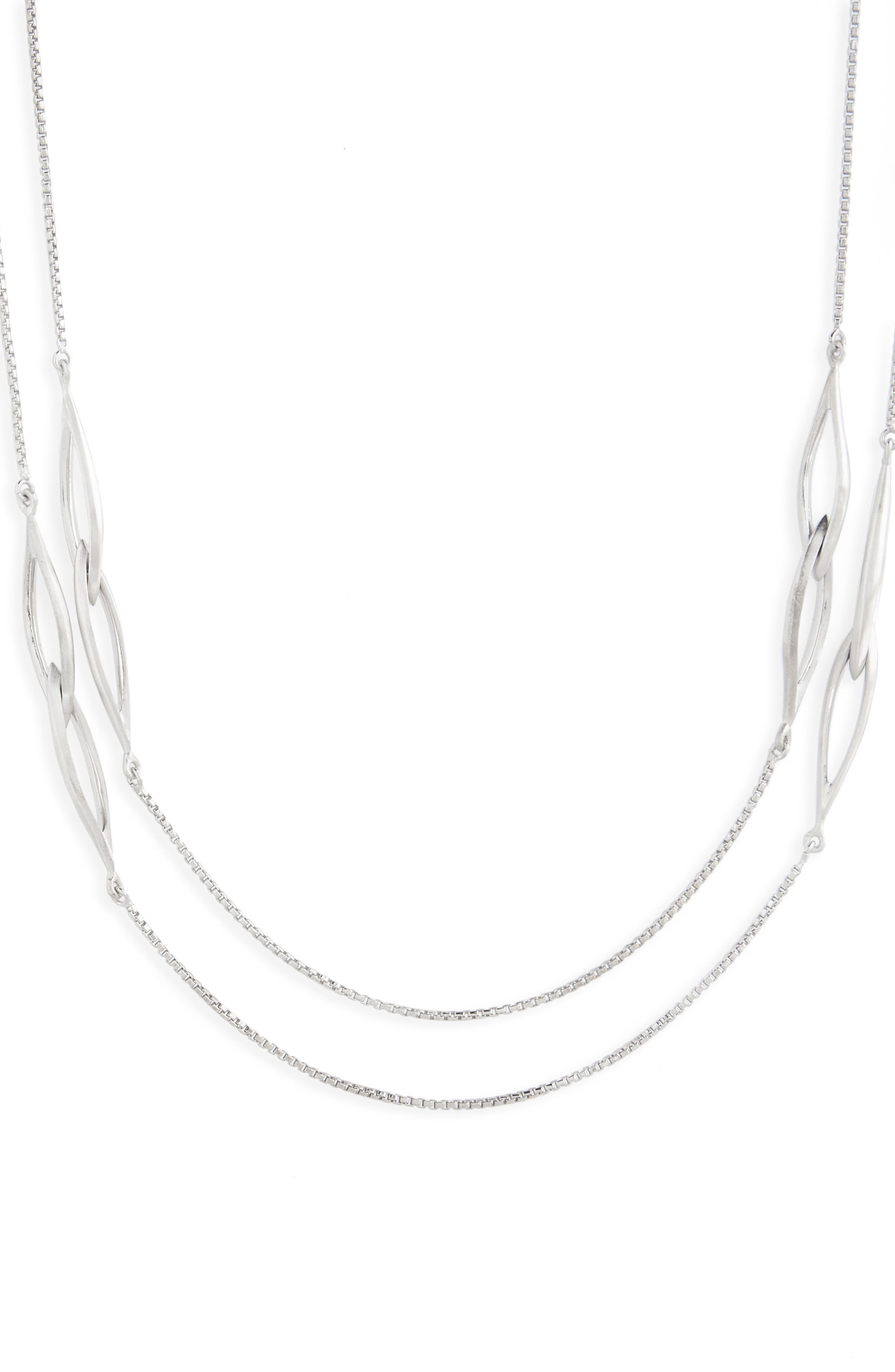 Entwined Station Necklace,                             Alternate thumbnail 3, color,                             040