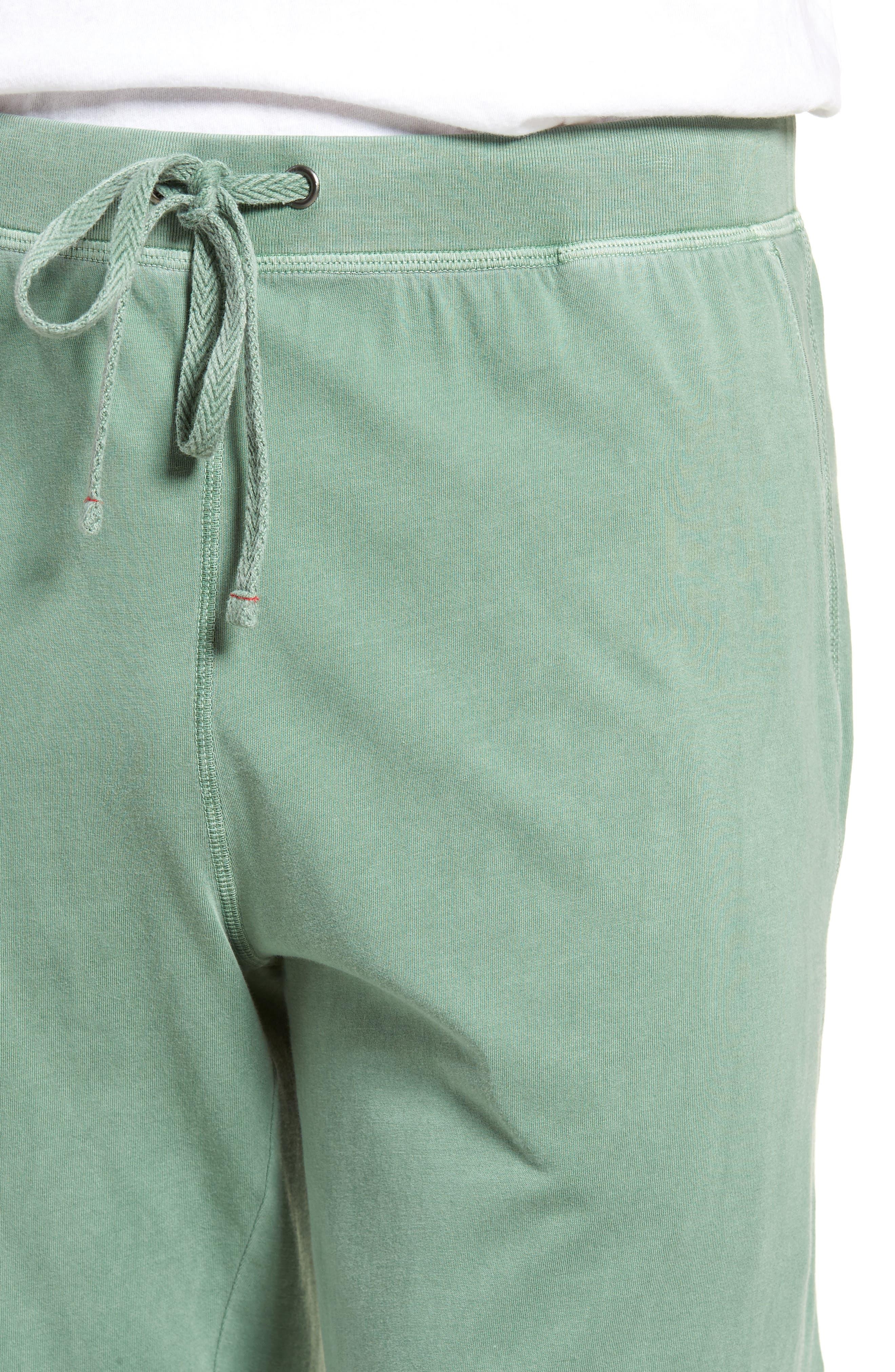 Peruvian Pima Cotton Lounge Pants,                             Alternate thumbnail 4, color,                             MOSS