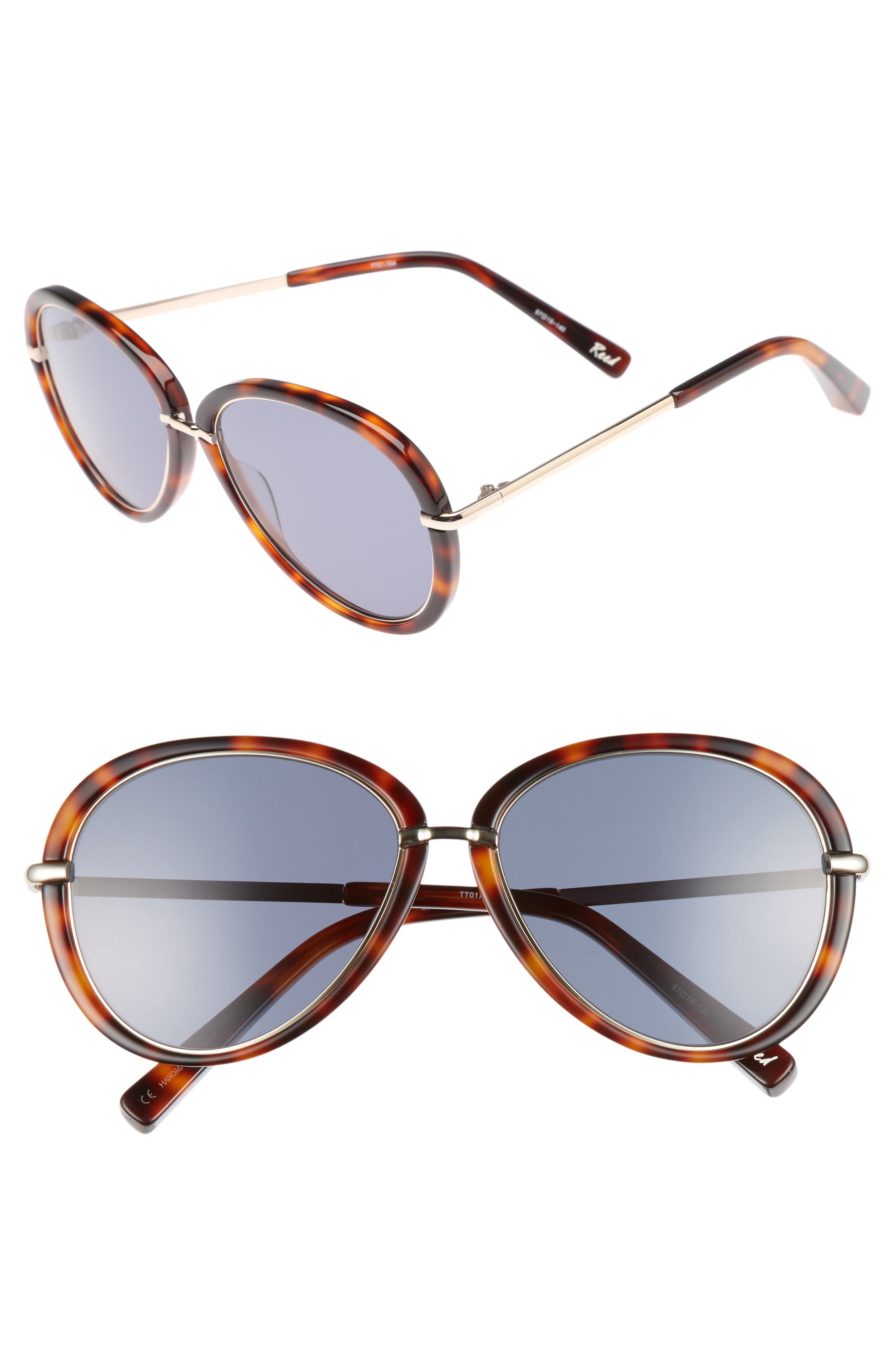Reed 57mm Aviator Sunglasses,                             Main thumbnail 2, color,