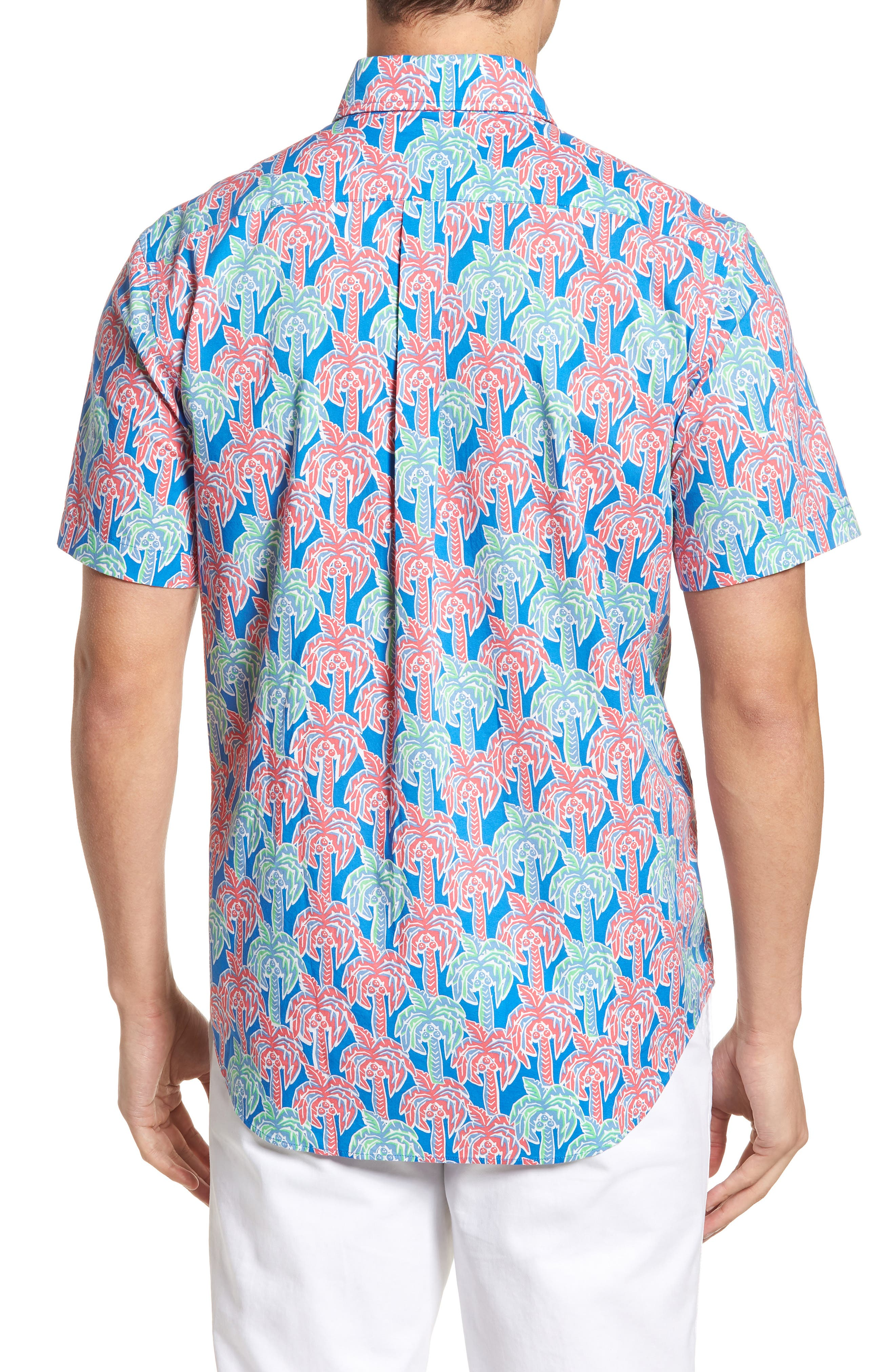 Murray Classic Fit Print Short Sleeve Sport Shirt,                             Alternate thumbnail 2, color,                             400