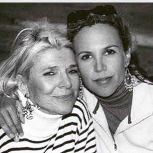 Designer Tory Burch and her mother, Reva Robinson.
