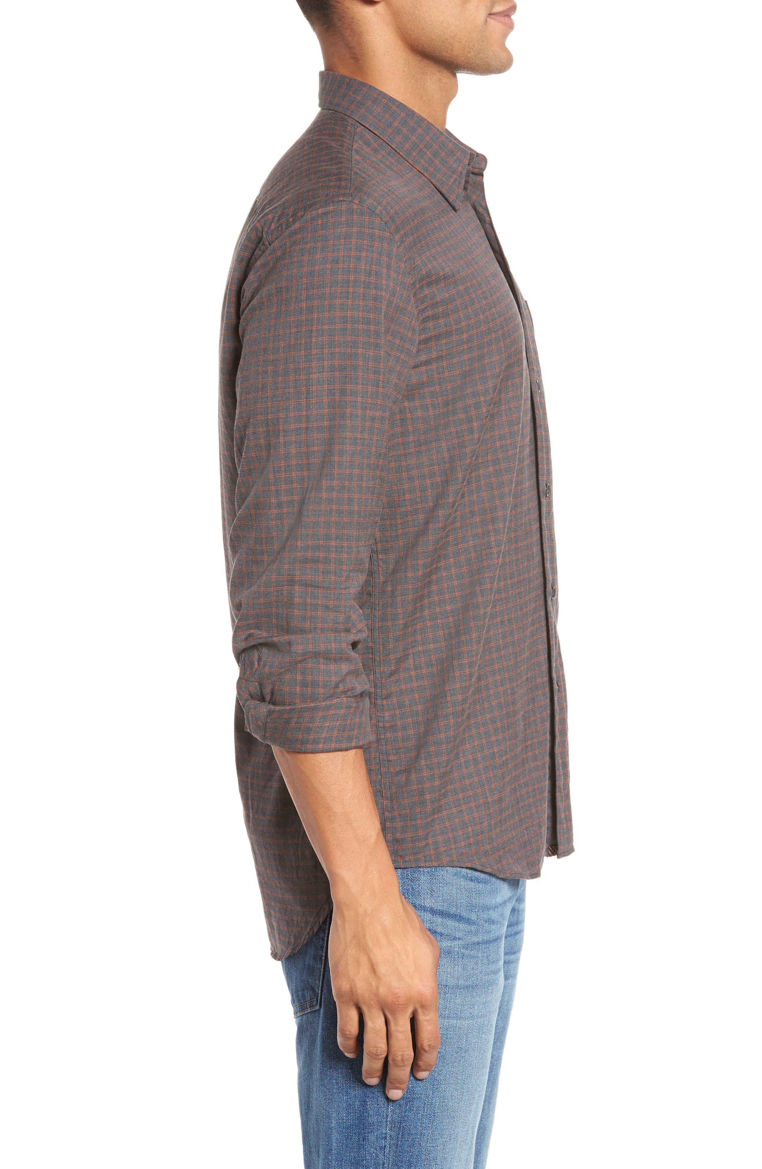 Walland Standard Fit Check Sport Shirt,                             Alternate thumbnail 3, color,