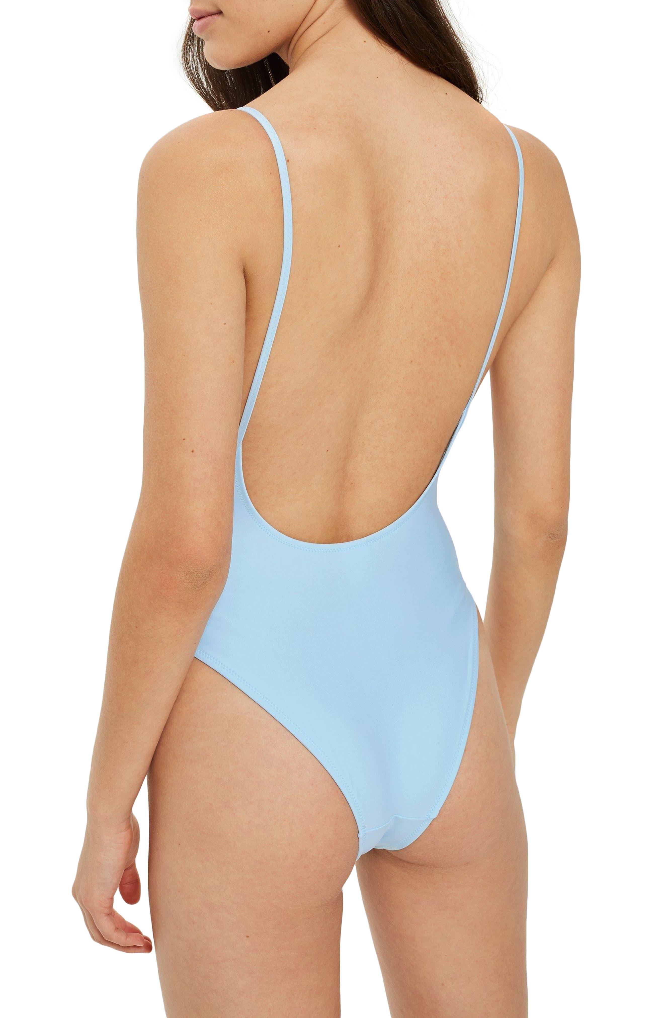 Pamela One-Piece Swimsuit,                             Alternate thumbnail 2, color,                             LIGHT BLUE
