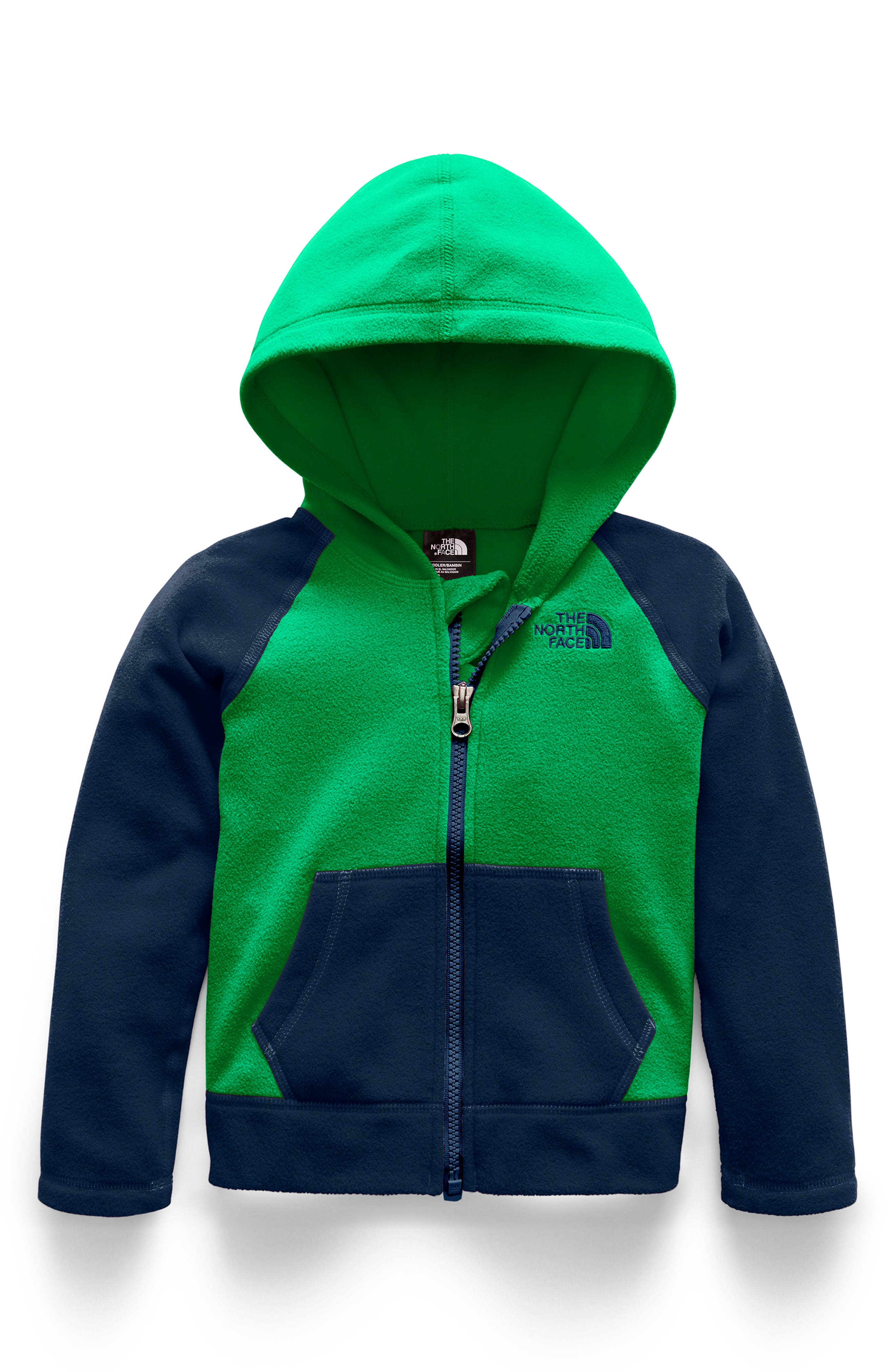 Glacier Zip Hoodie,                         Main,                         color, PRIMARY GREEN