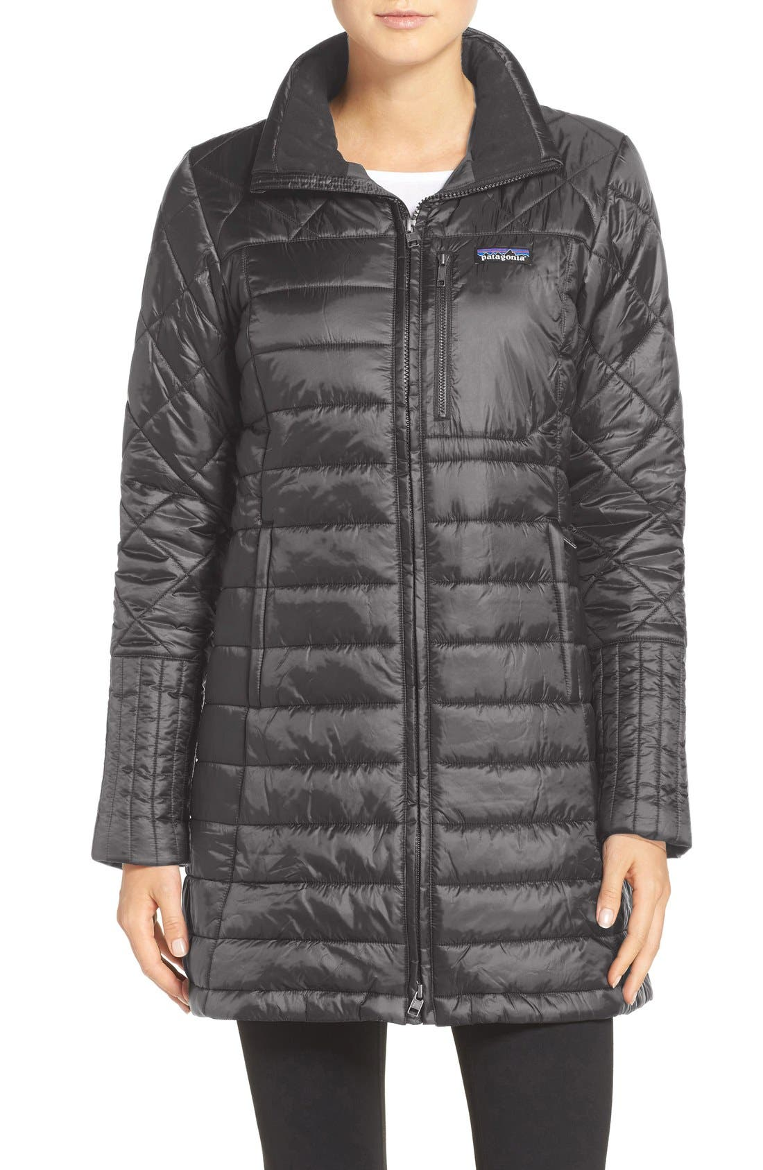 'Radalie' Water Repellent Parka,                             Main thumbnail 1, color,                             FORGE GREY