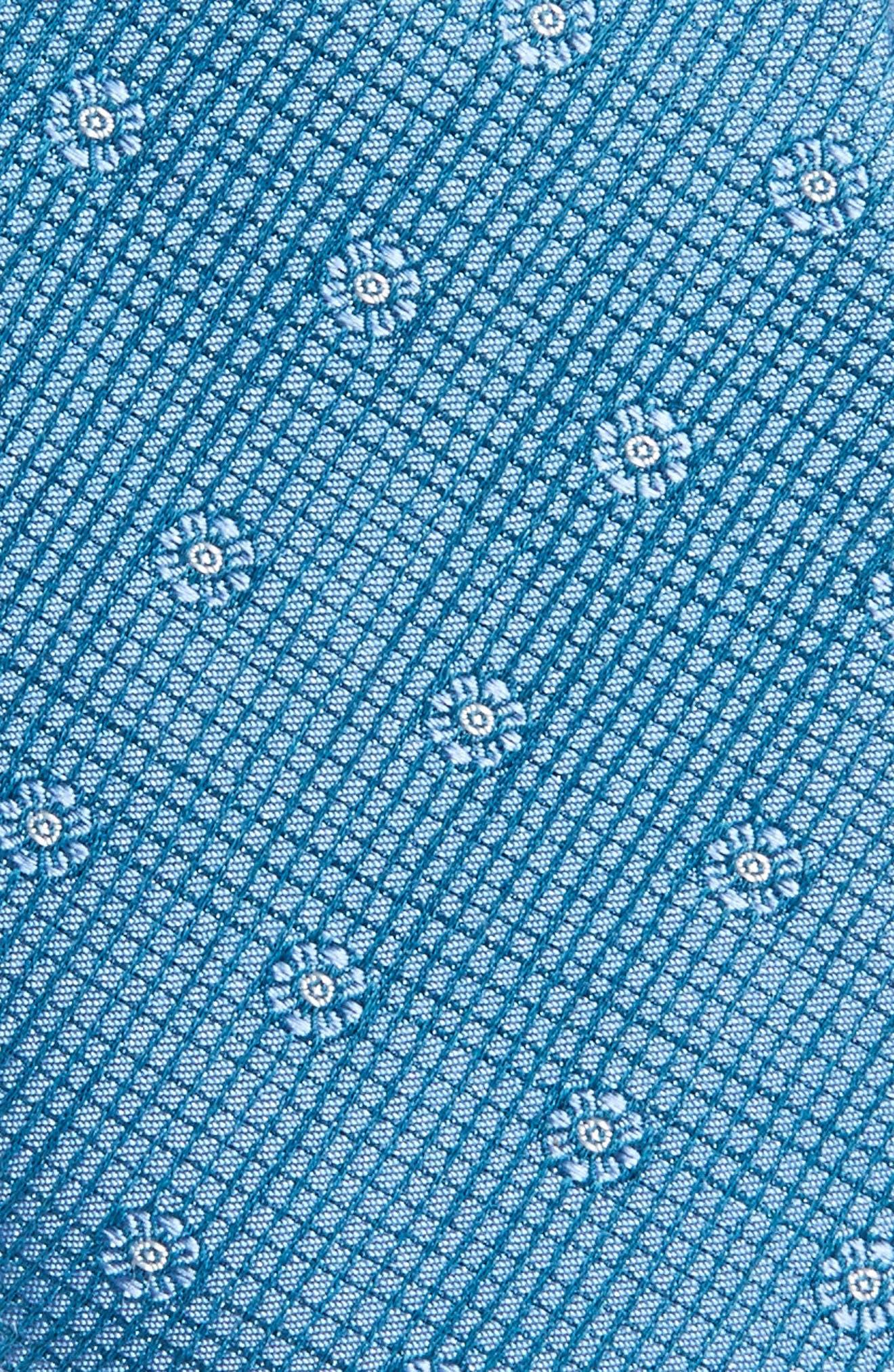 Fleur Medallion Silk Skinny Tie,                             Alternate thumbnail 11, color,