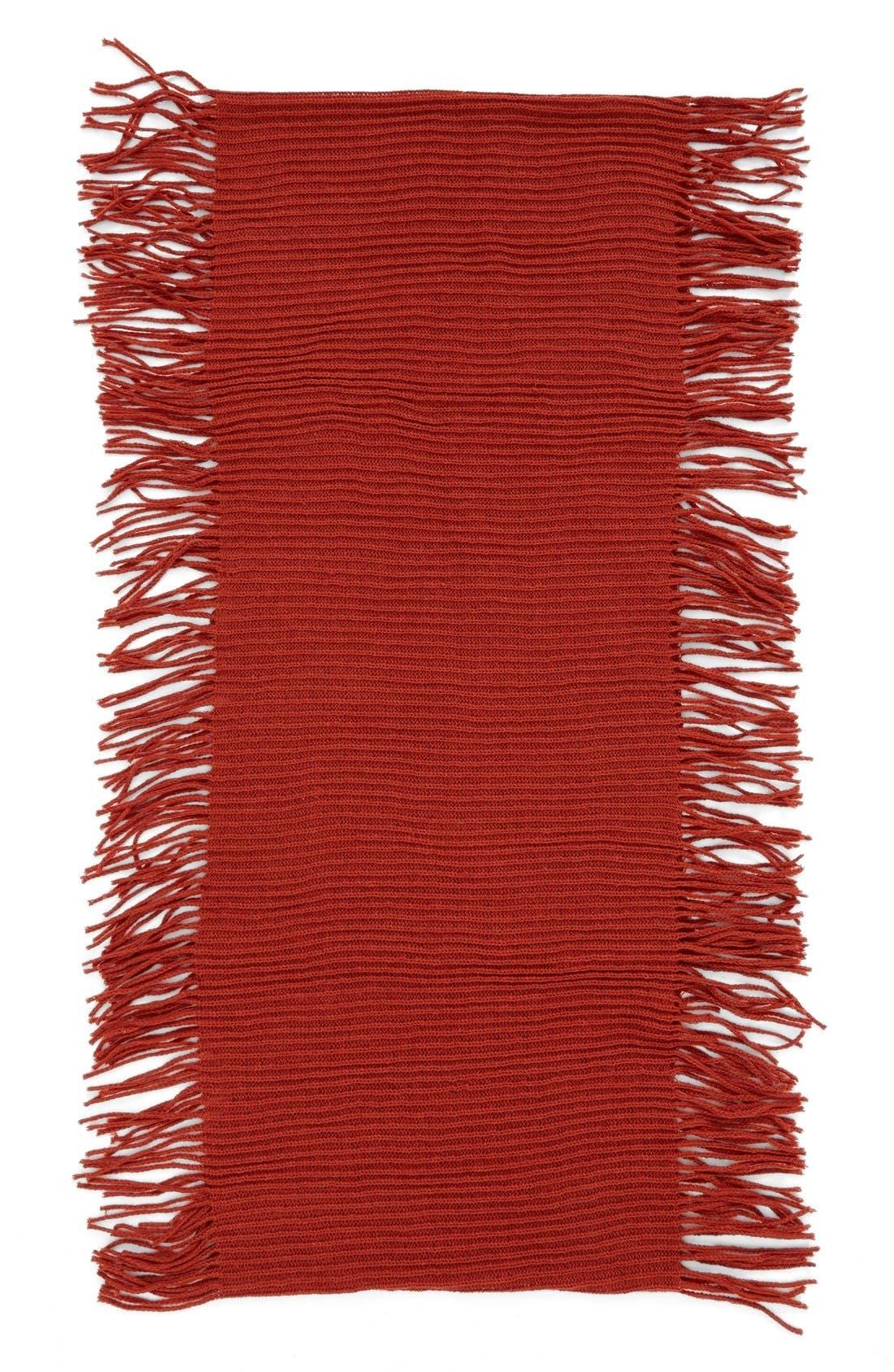 Rib Knit Fringe Infinity Scarf,                             Alternate thumbnail 11, color,