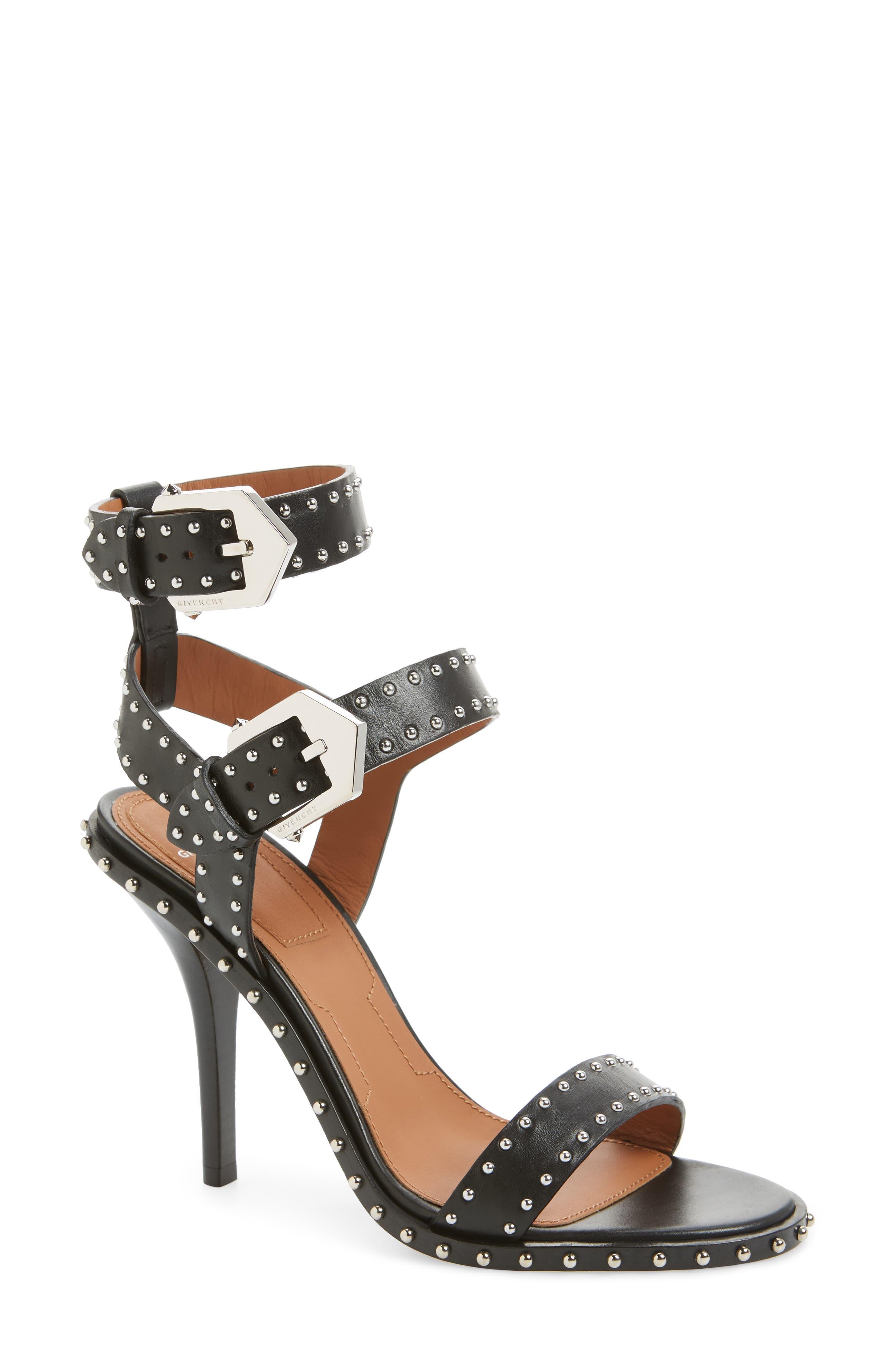 Elegant Studded Sandal,                             Main thumbnail 1, color,                             001