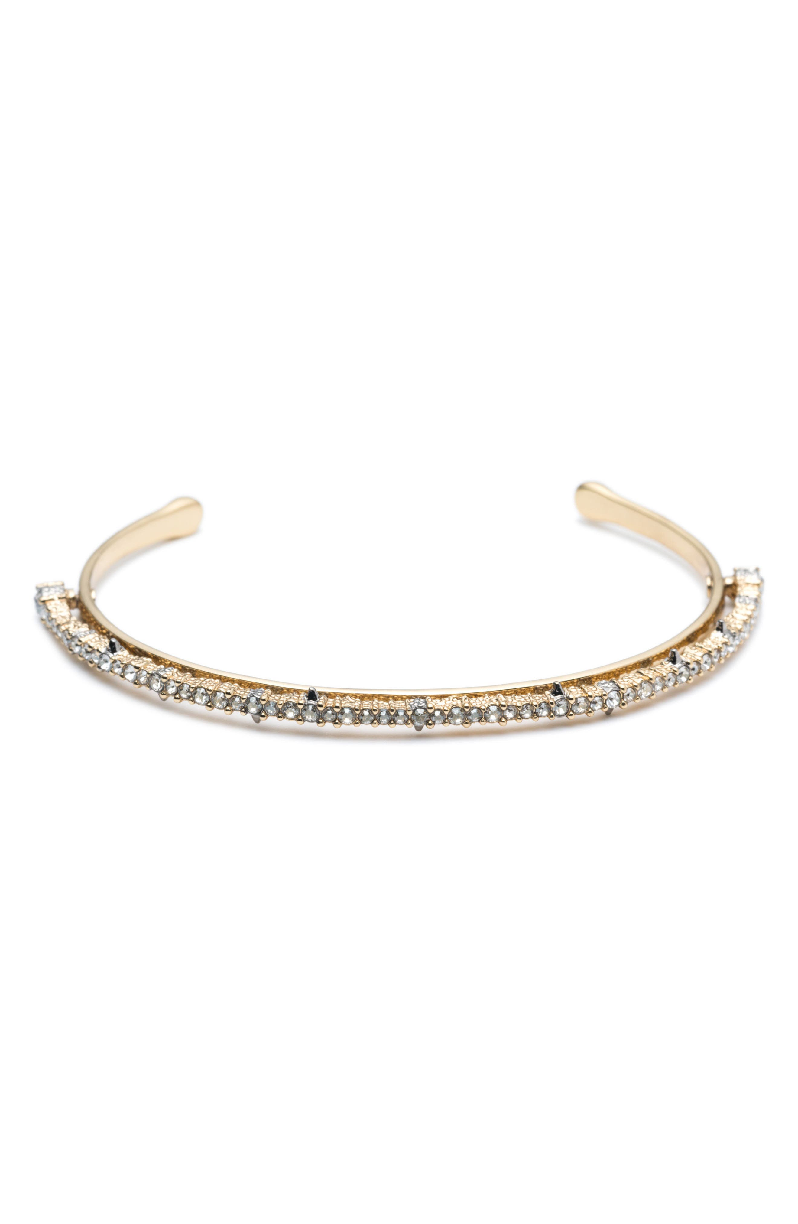 Crystal Lace Orbiting Cuff,                         Main,                         color, GOLD