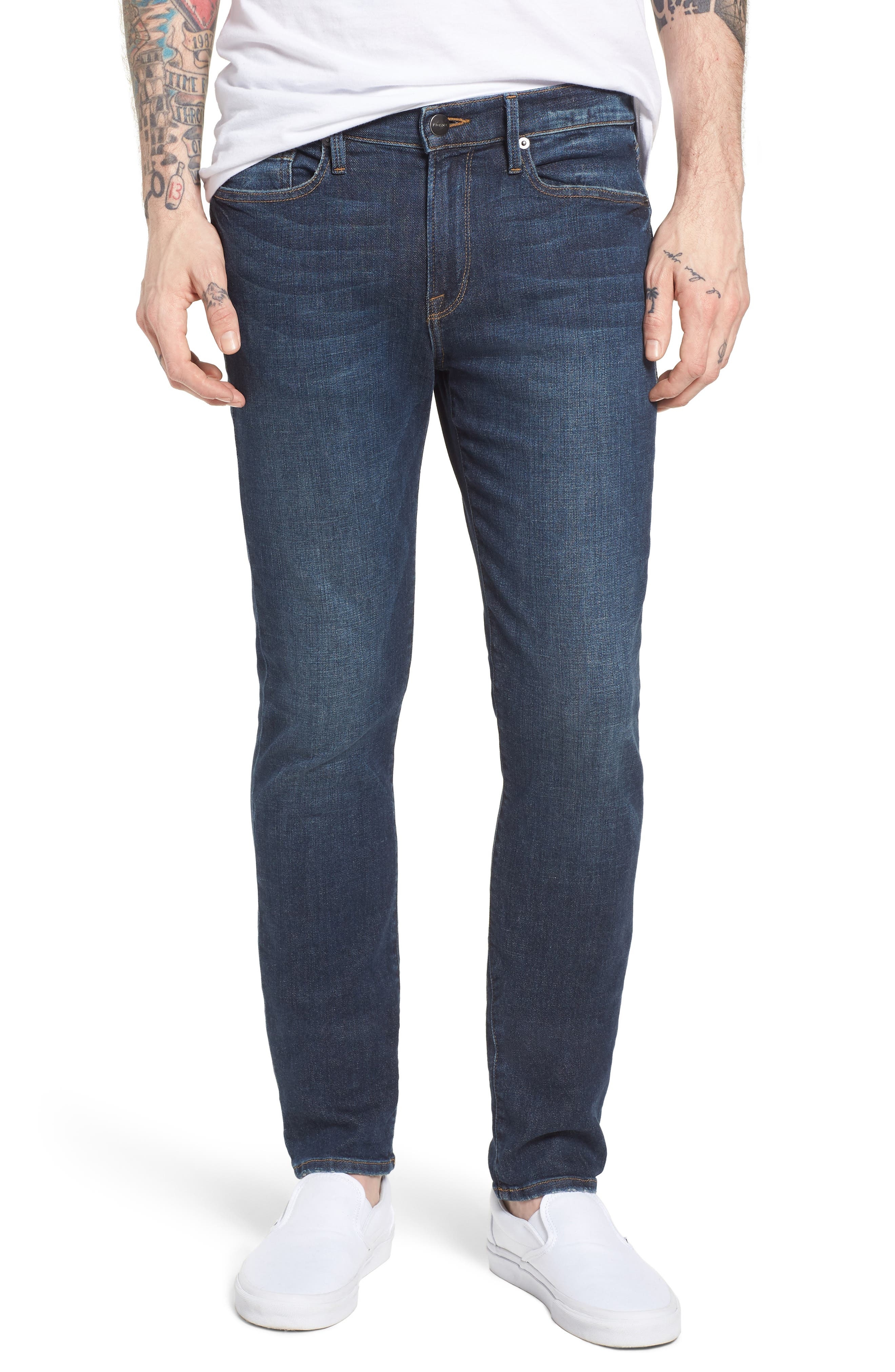 L'Homme Skinny Jeans,                             Main thumbnail 1, color,                             421