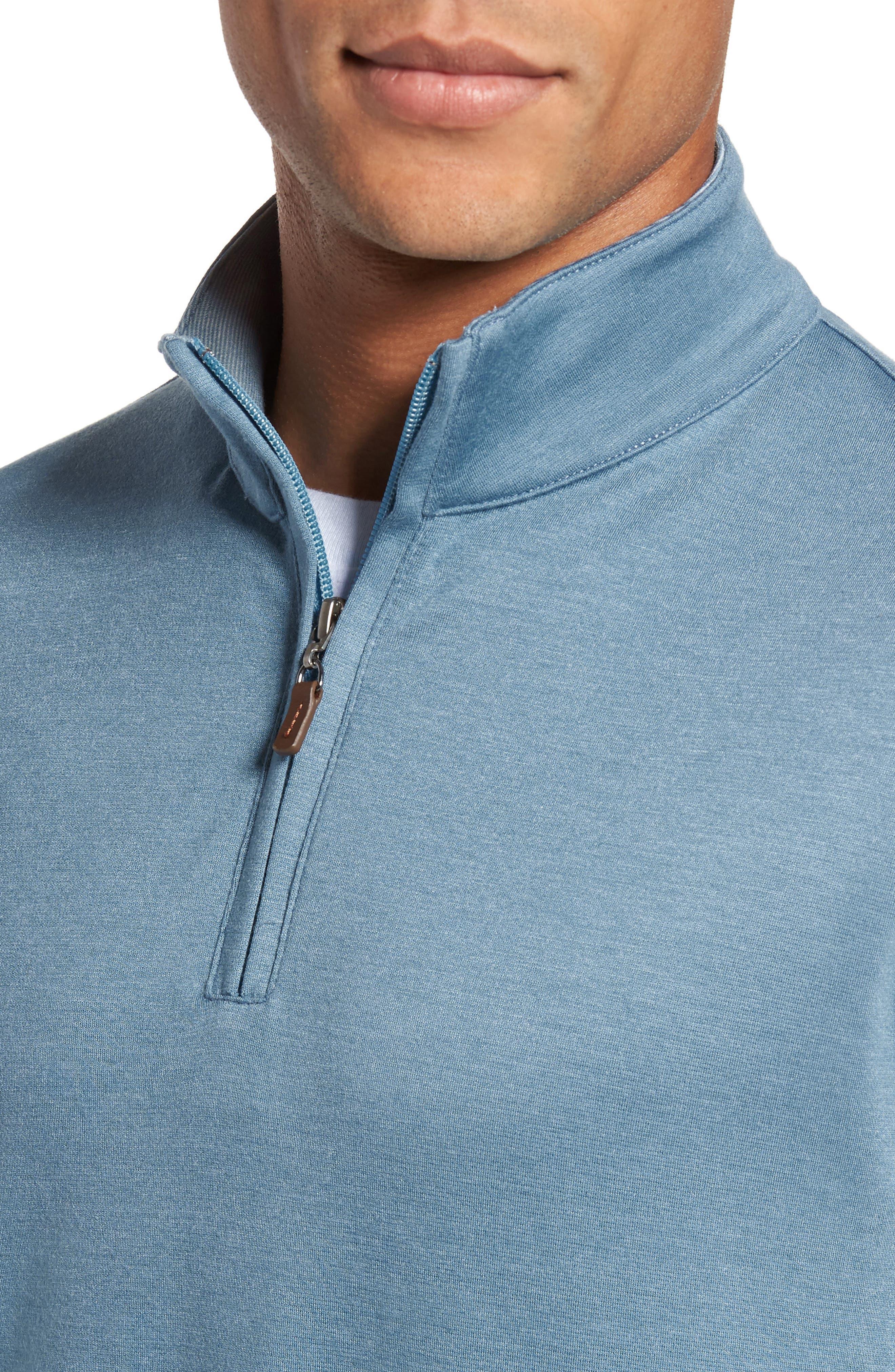 Quarter Zip Pullover,                             Alternate thumbnail 4, color,                             BLUE