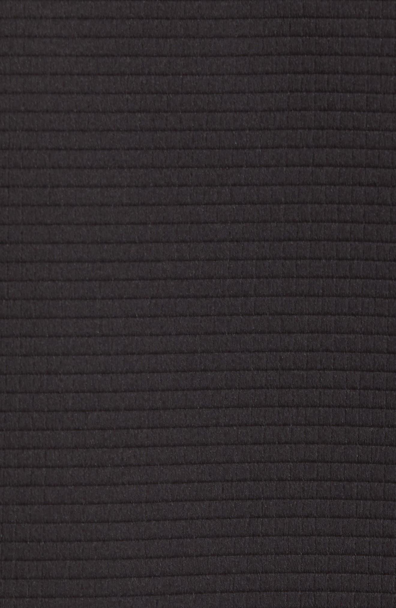 Slim Fit Bomber Jacket,                             Alternate thumbnail 6, color,                             BLACK SOLID