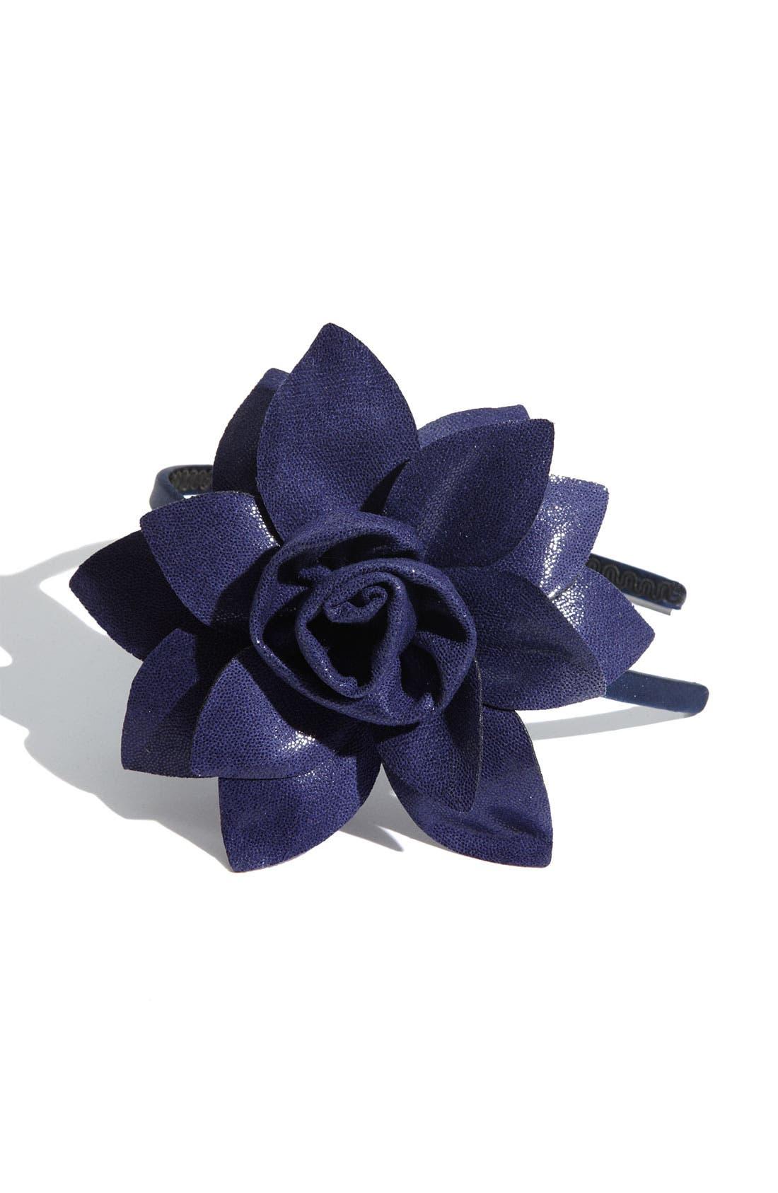 'Boa Rose Flower' Headband,                             Main thumbnail 4, color,