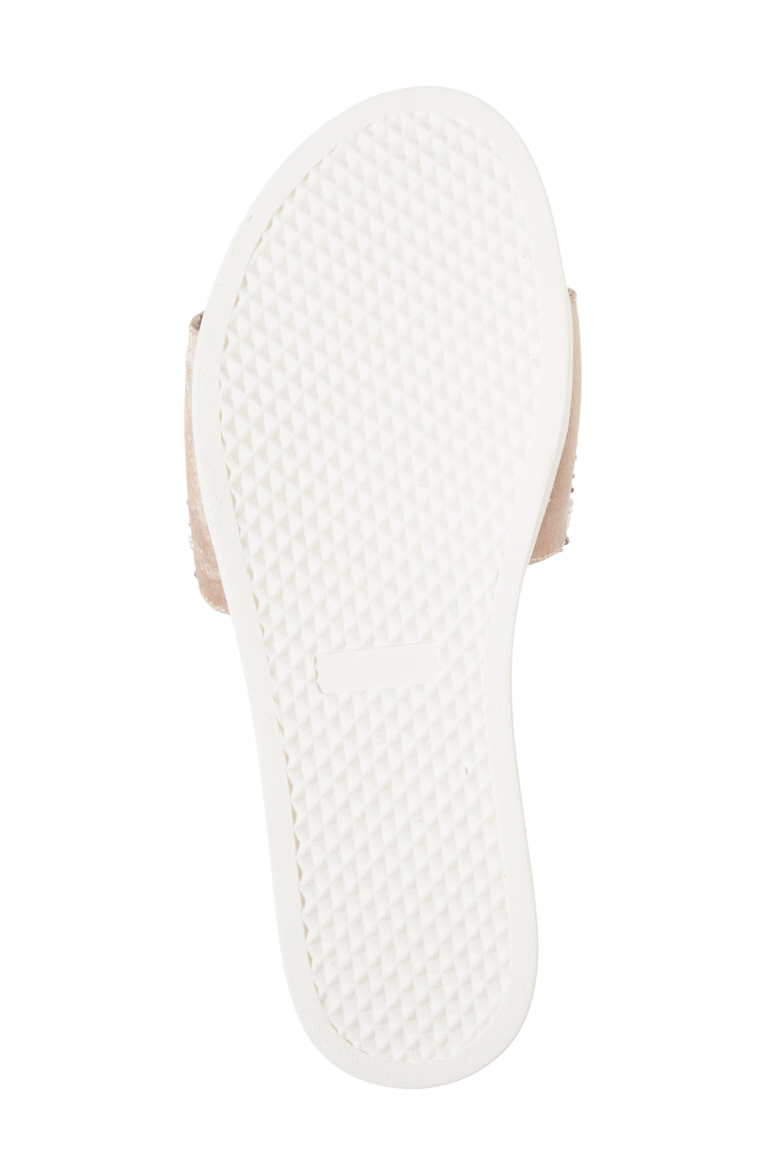 Thalia Beaded Slide Sandal,                             Alternate thumbnail 6, color,                             400