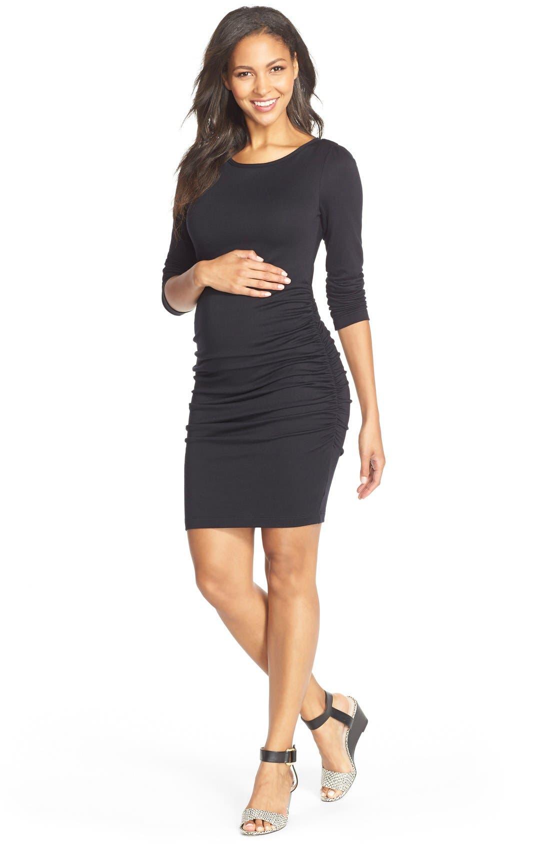 Presley Body-Con Maternity Dress,                         Main,                         color, 001