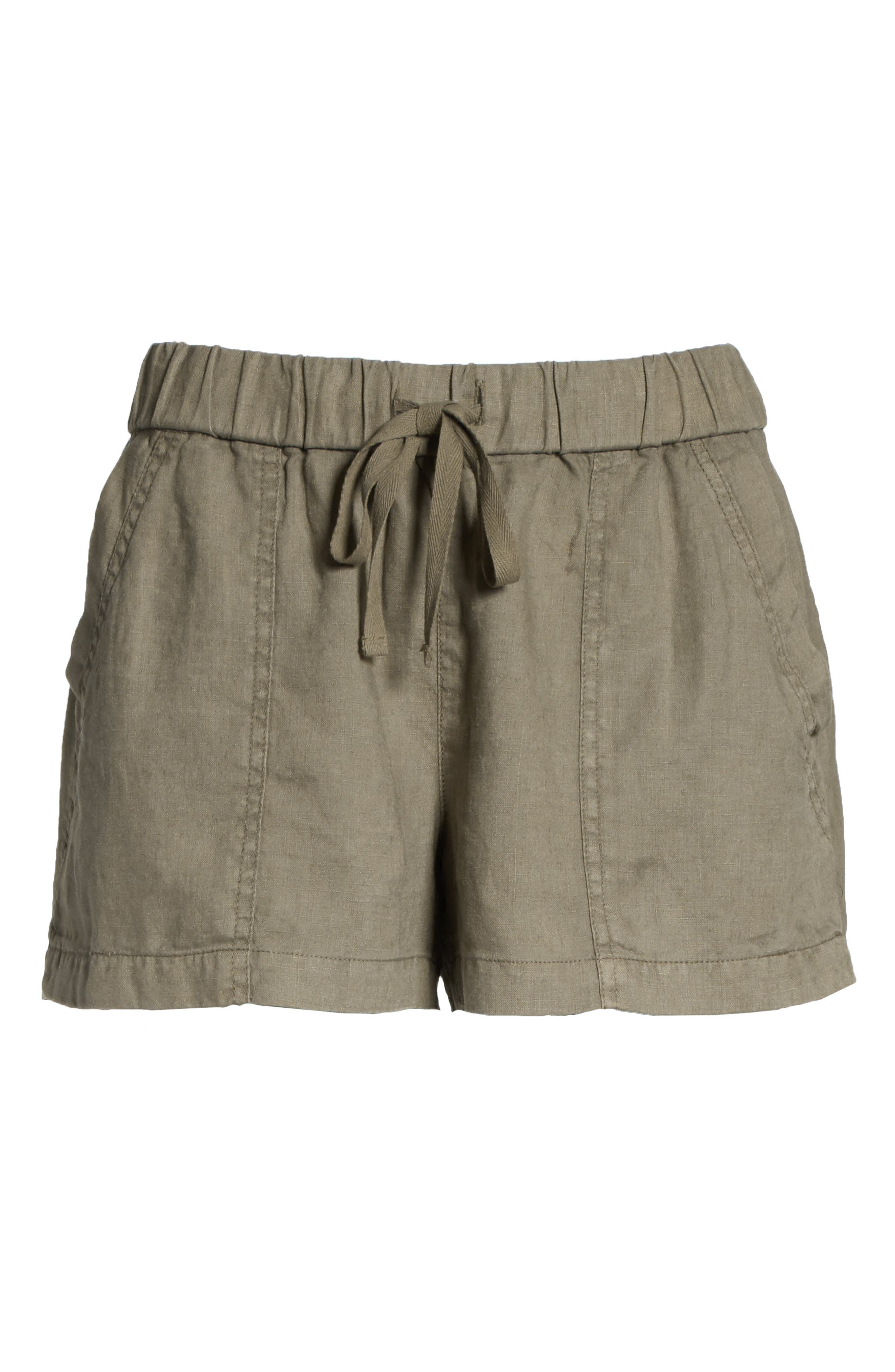 Fosette Linen Drawstring Shorts,                             Alternate thumbnail 11, color,