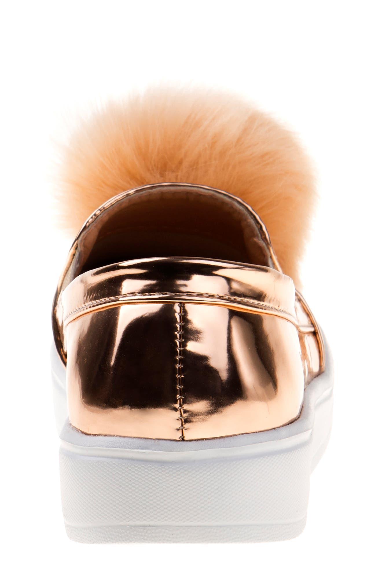 KENSIE GIRL,                             Pom Metallic Sneaker,                             Alternate thumbnail 6, color,                             710