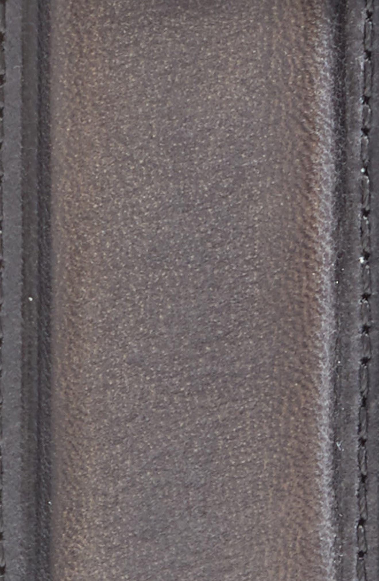 Pressed Edge Leather Belt,                             Alternate thumbnail 2, color,                             STORM CLOUD