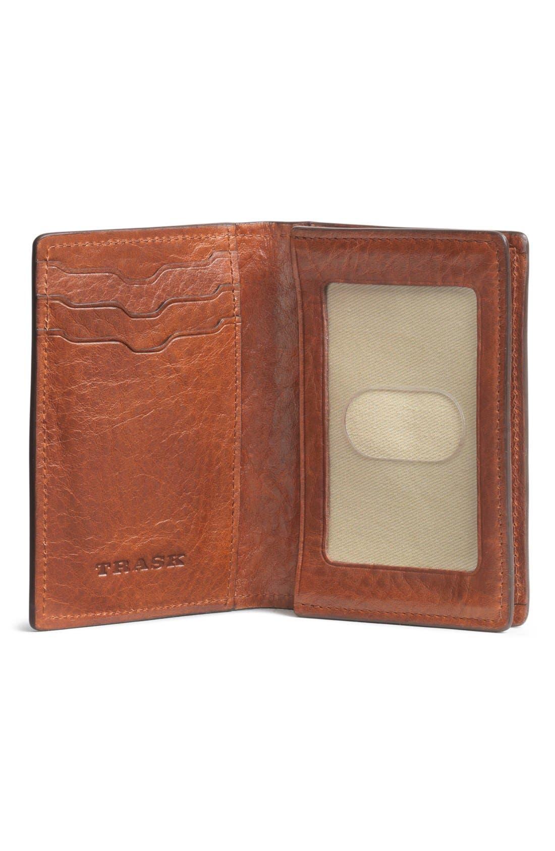 'Jackson' Gusset Pocket Bison Leather Card Case,                             Alternate thumbnail 2, color,                             200