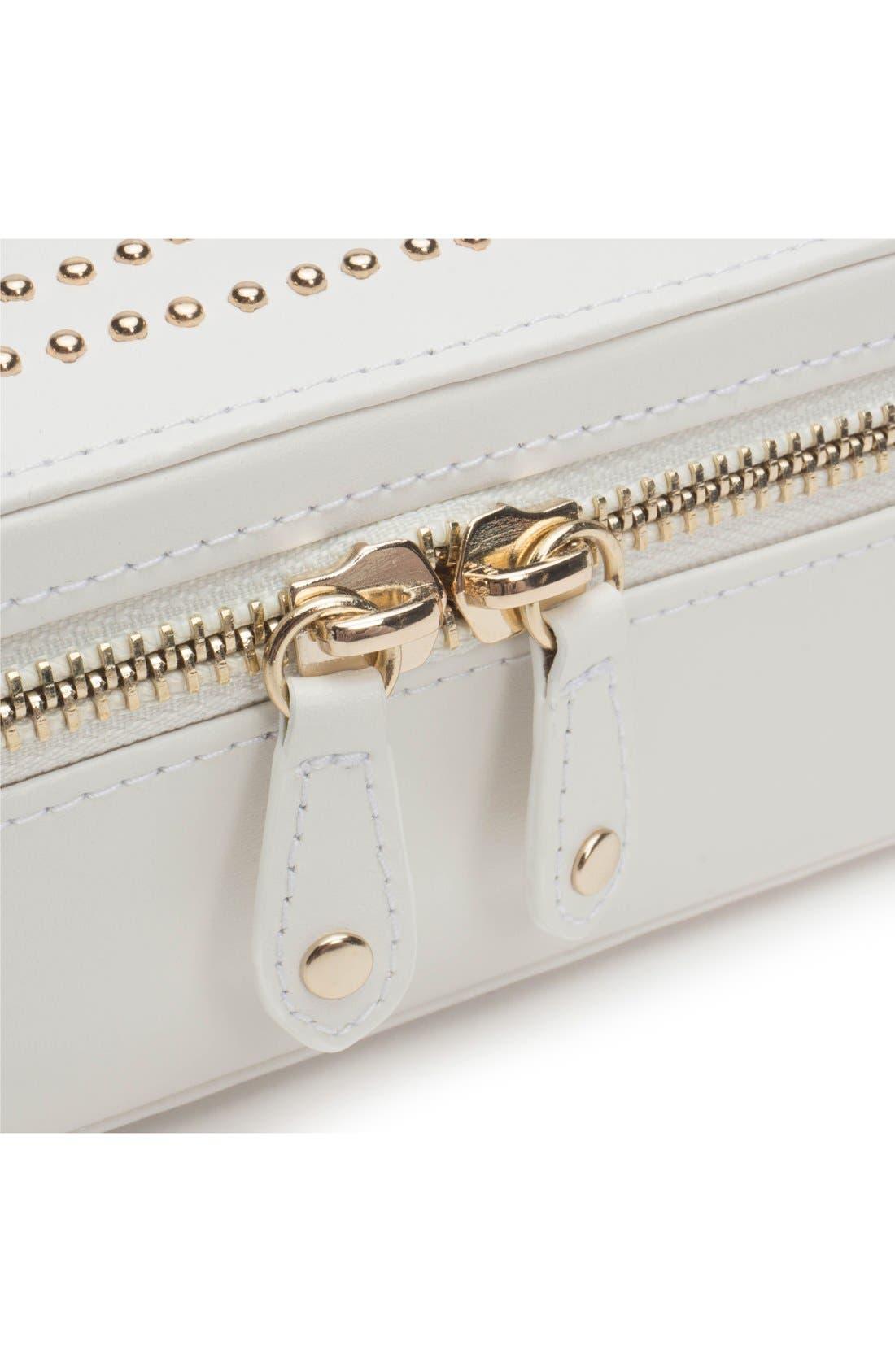 'Marrakesh' Zip Jewelry Case,                             Alternate thumbnail 4, color,                             CREAM
