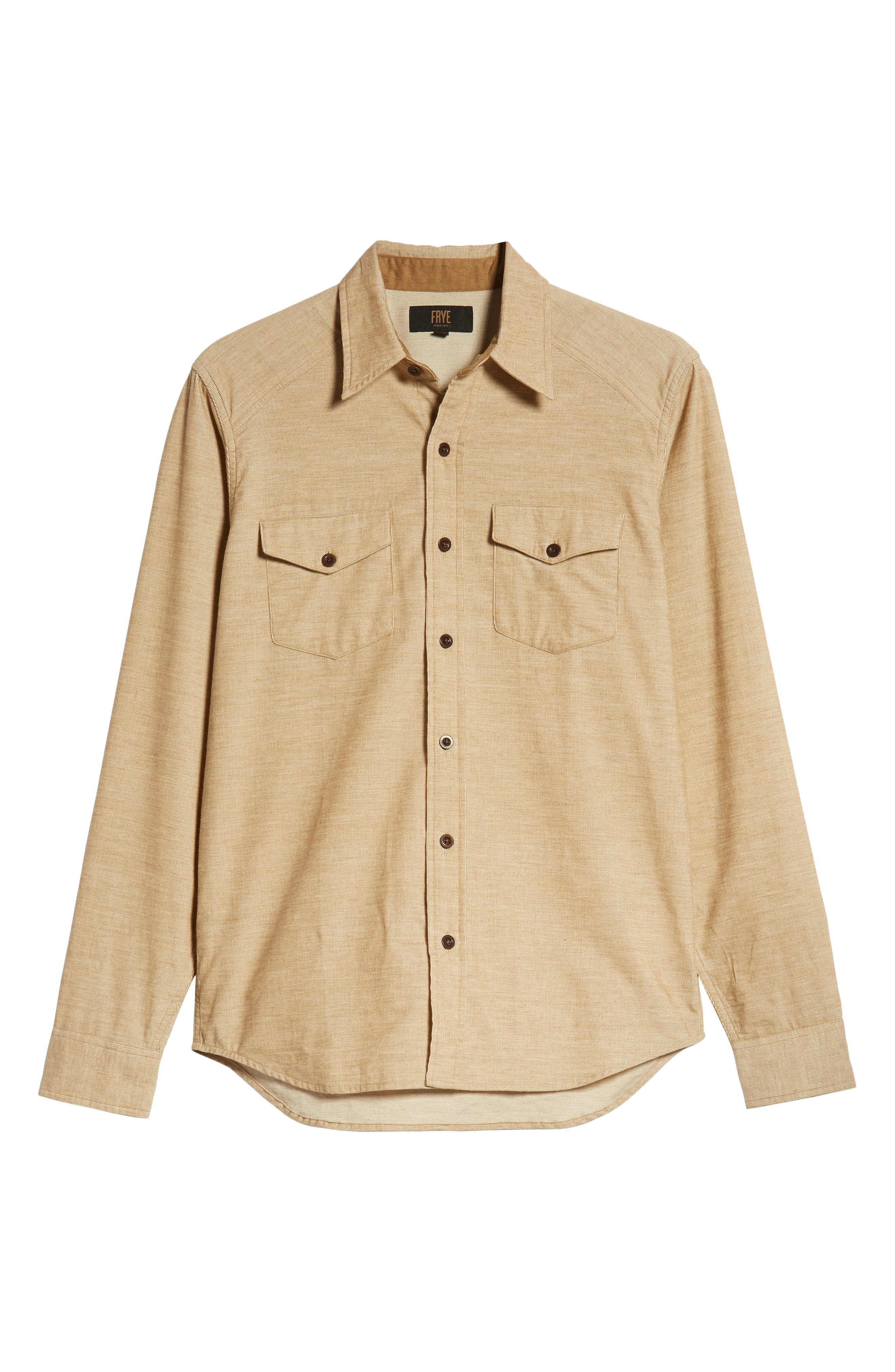 John Addison Engineer Shirt,                             Alternate thumbnail 5, color,                             KHAKI HEATHER