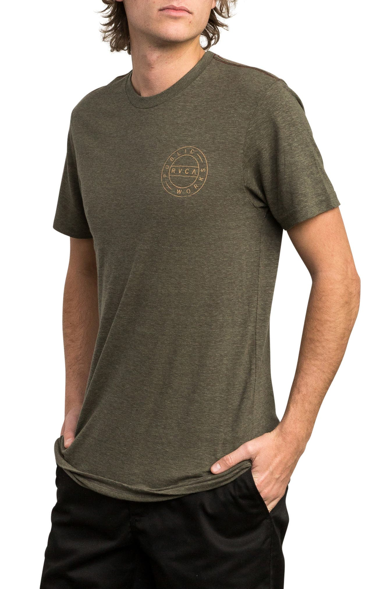 Public Works Graphic T-Shirt,                             Alternate thumbnail 3, color,                             OLIVE HEATHER