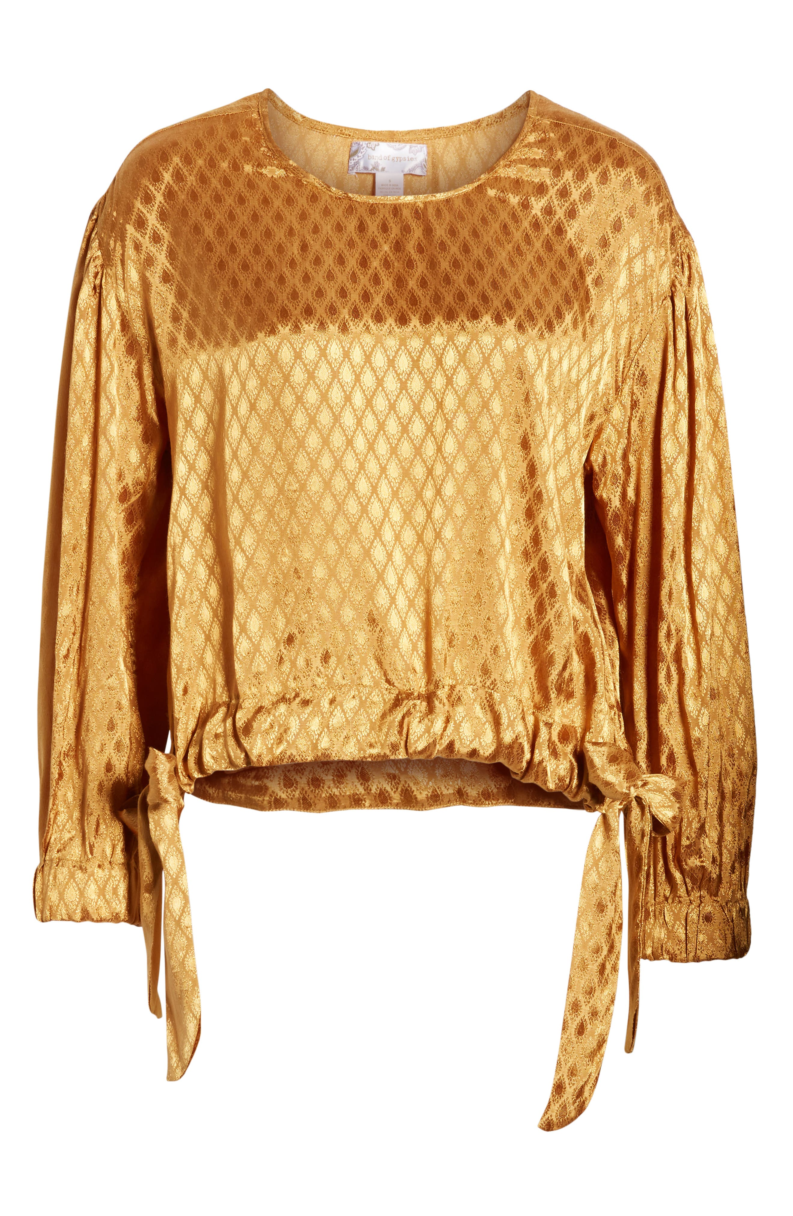 Reed Jacquard Top,                             Alternate thumbnail 6, color,                             GOLD