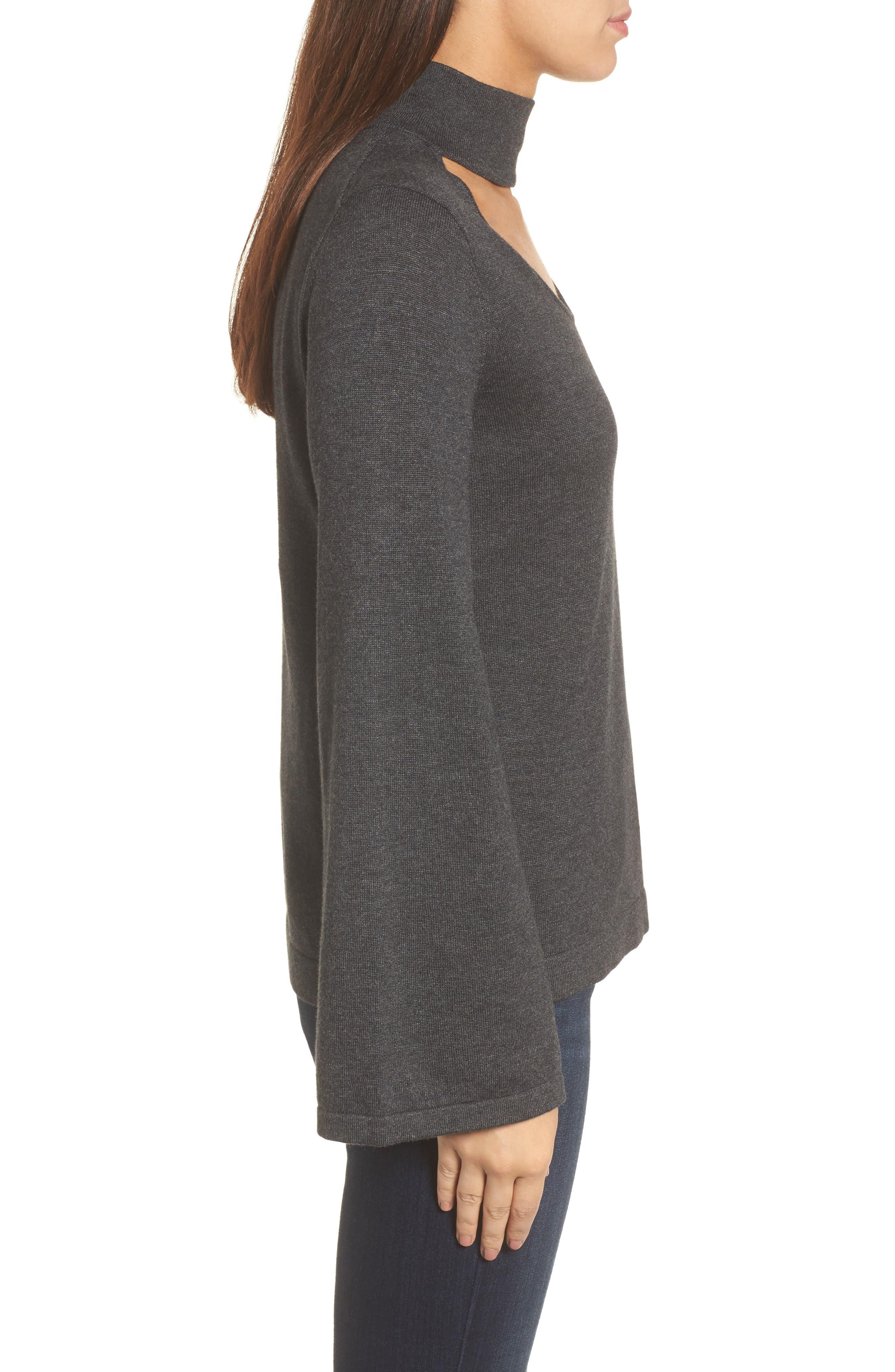Bell Sleeve Choker Neck Sweater,                             Alternate thumbnail 12, color,