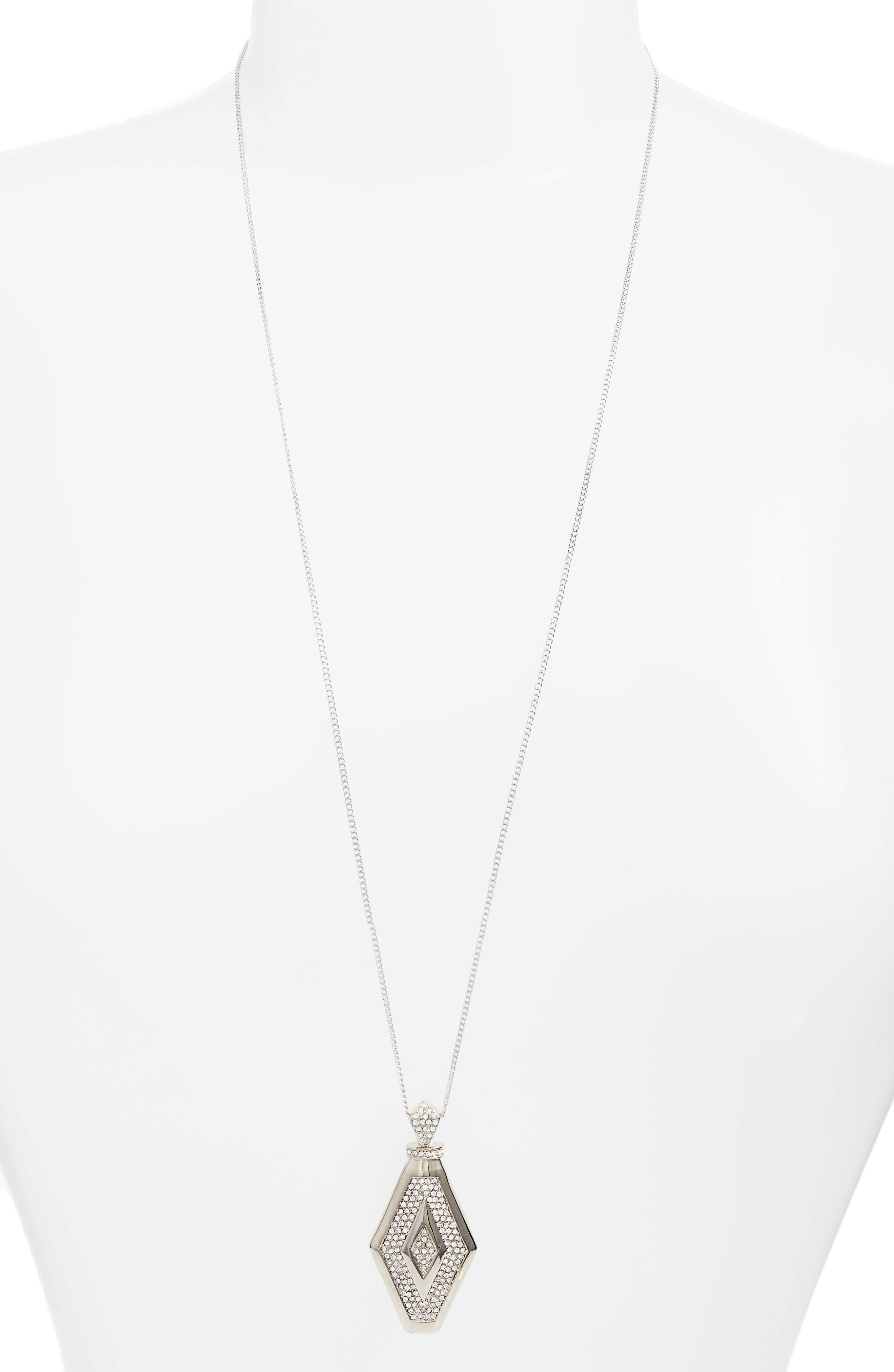 Pavé Crystal Pendant Necklace,                         Main,                         color, 040