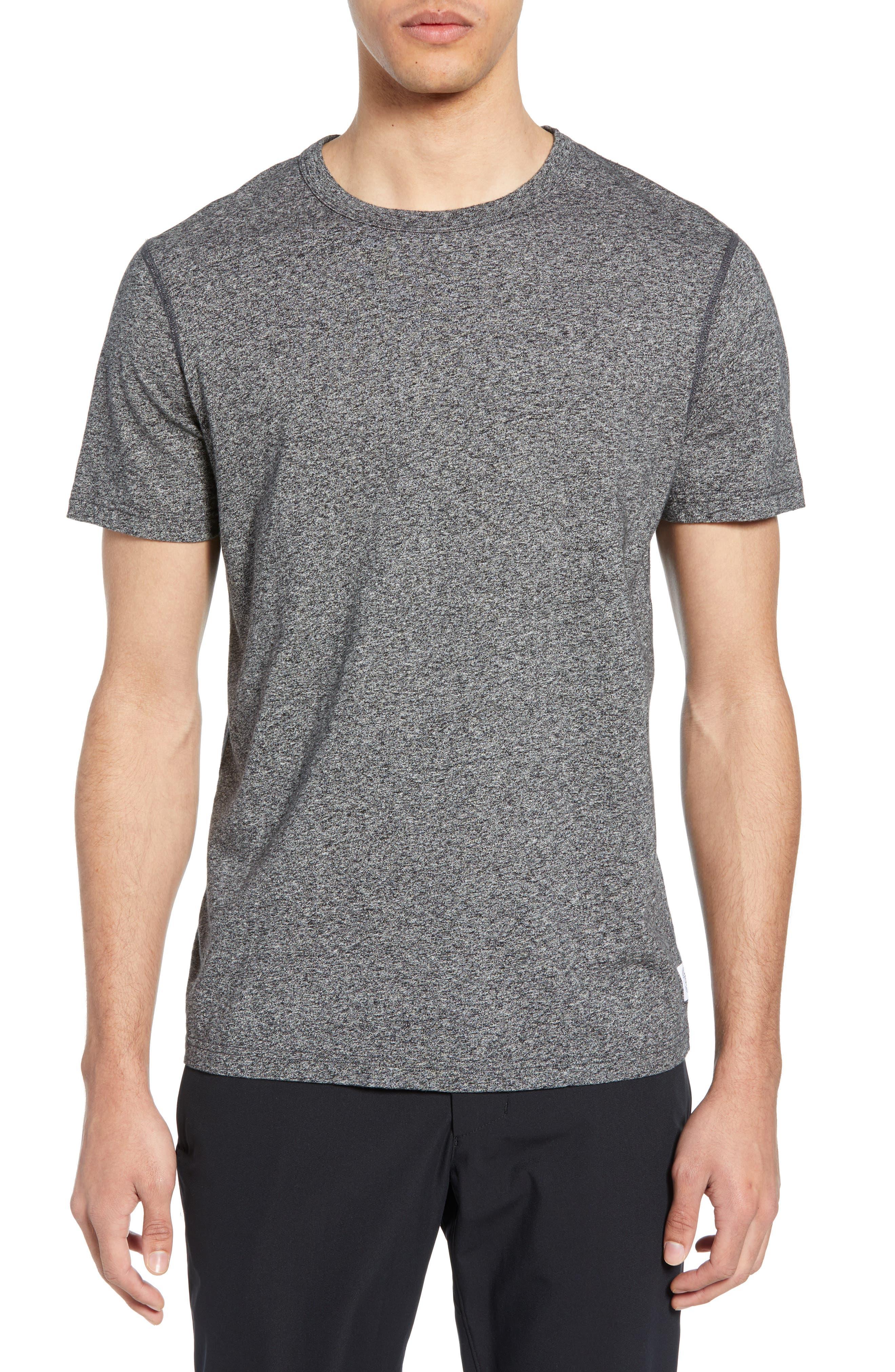 REIGNING CHAMP,                             Short Sleeve Crewneck T-Shirt,                             Main thumbnail 1, color,                             MEDIUM BLACK