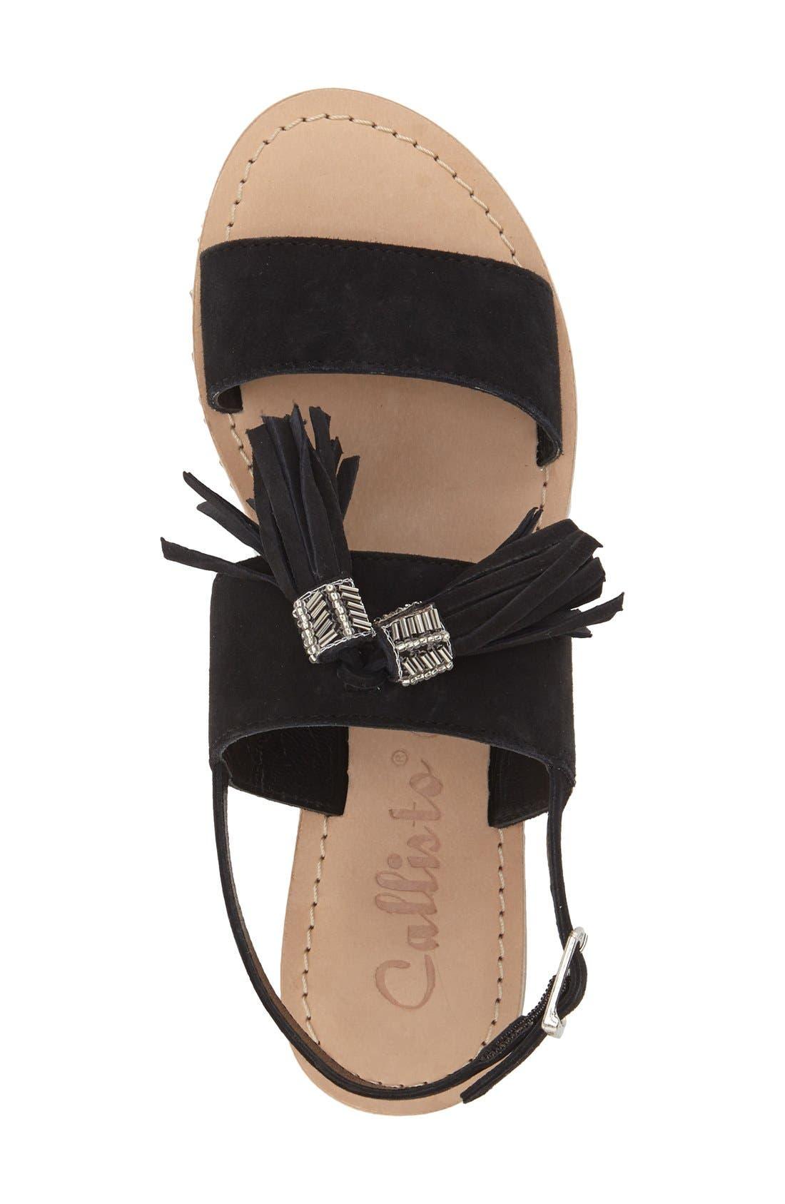 CALLISTO,                             'Anandi' Tassel Flat Sandal,                             Alternate thumbnail 3, color,                             001