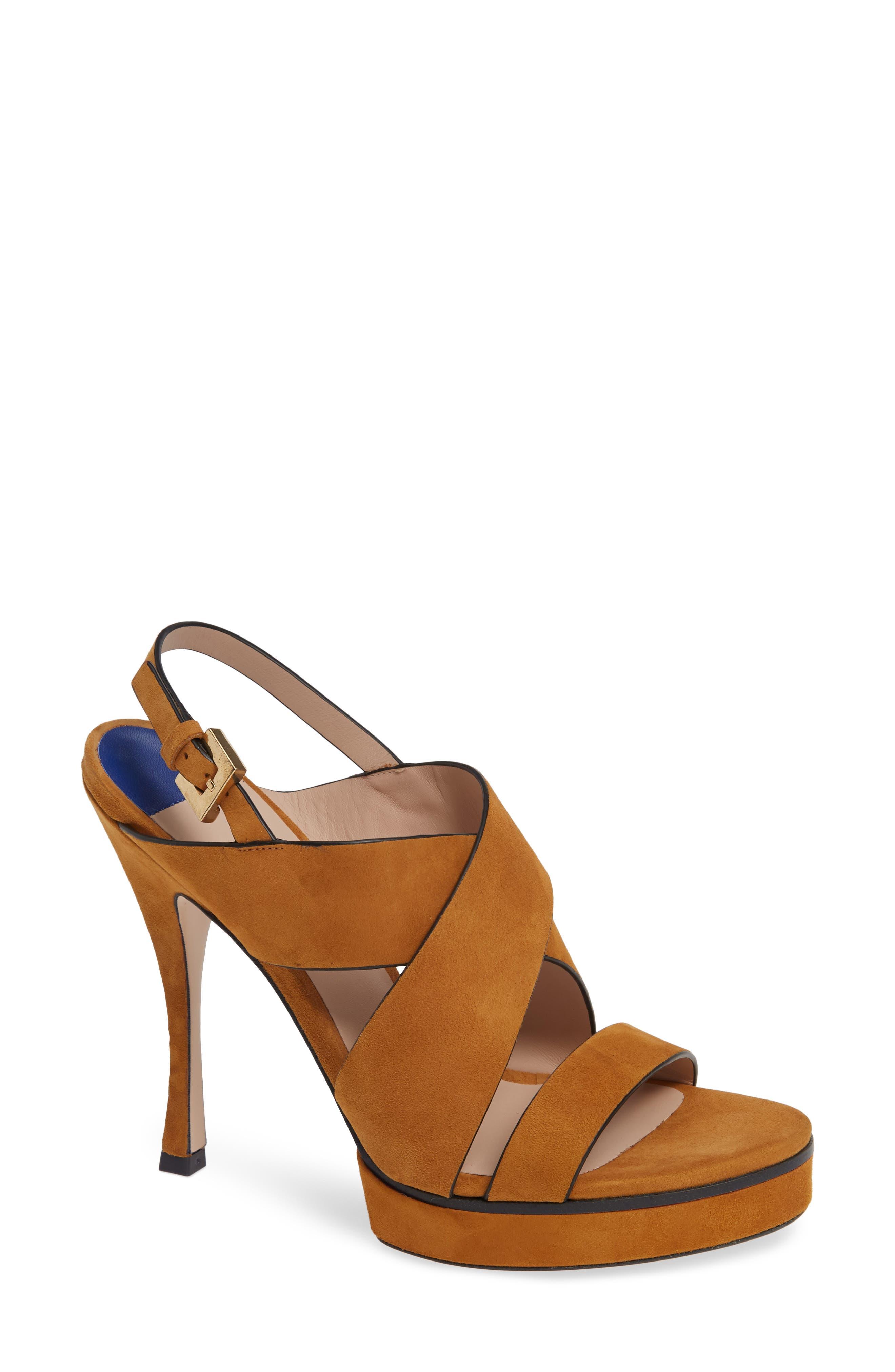 Hester Cross Strap Sandal,                         Main,                         color, BRIDLE SUEDE