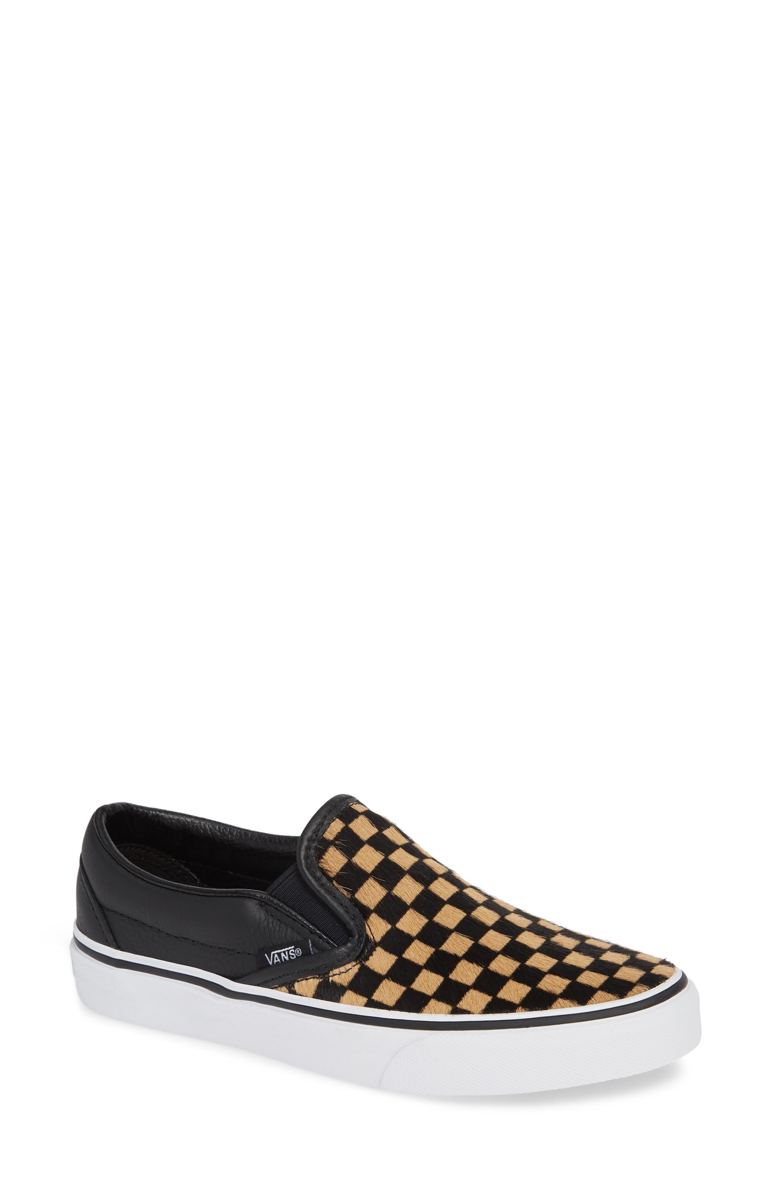 VANS UA Classic Genuine Calf Hair Slip-On Sneaker, Main, color, 001