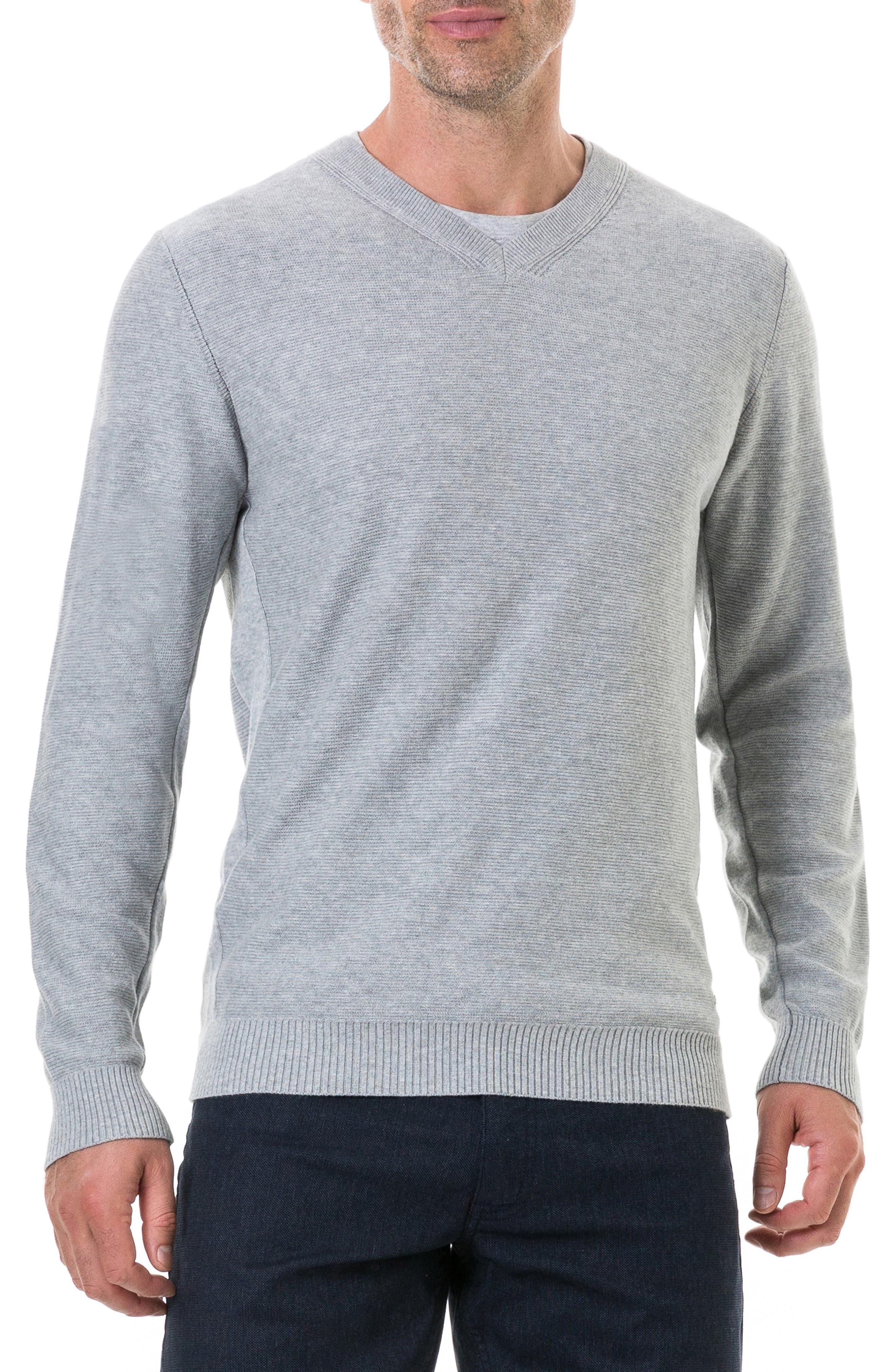 Ridgeview V-Neck Sweater,                             Main thumbnail 1, color,                             ASH