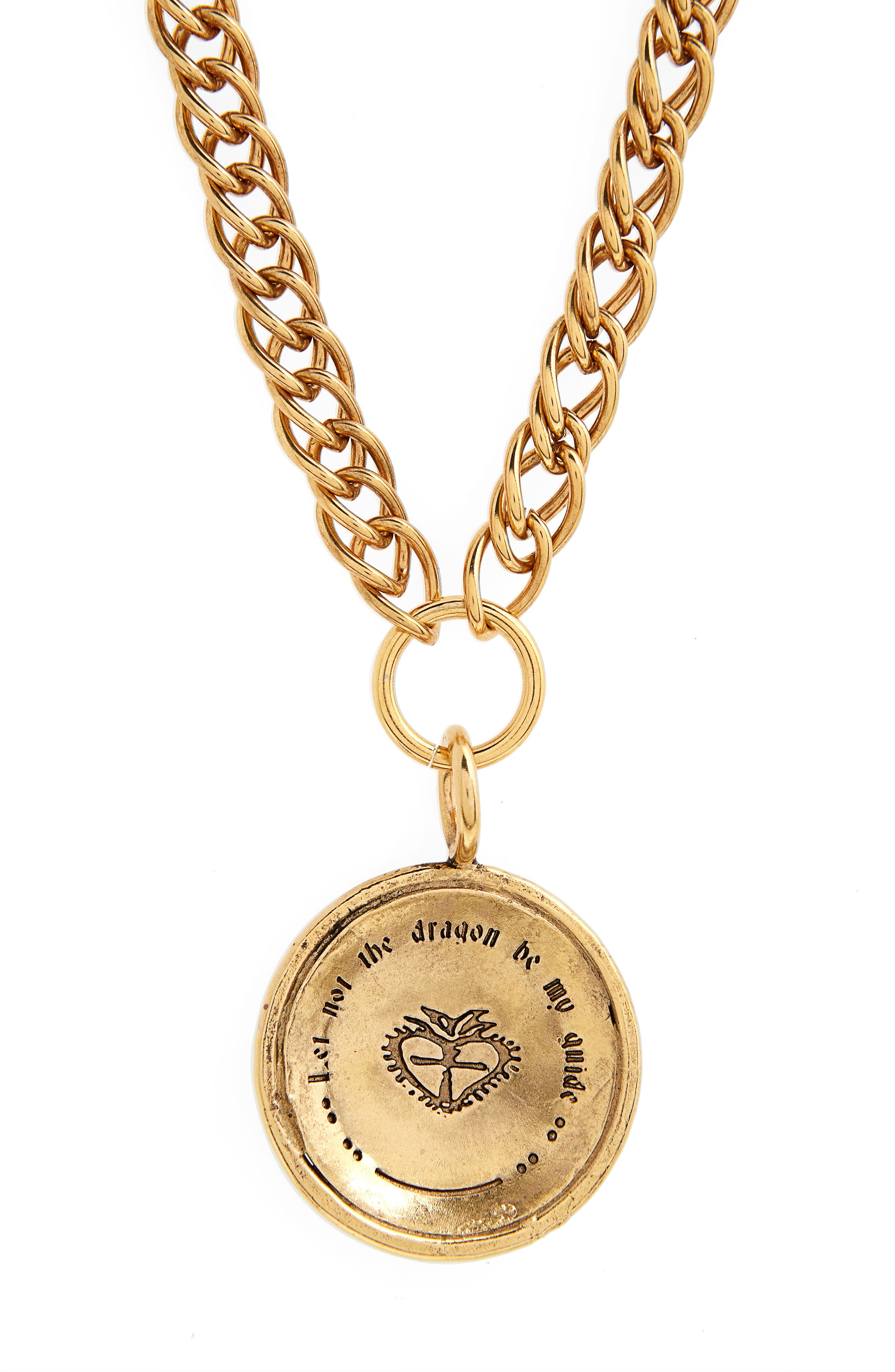 VIRGINS SAINTS & ANGELS,                             Virgins Saints and Angels Cathedral Coin Necklace,                             Alternate thumbnail 3, color,                             710