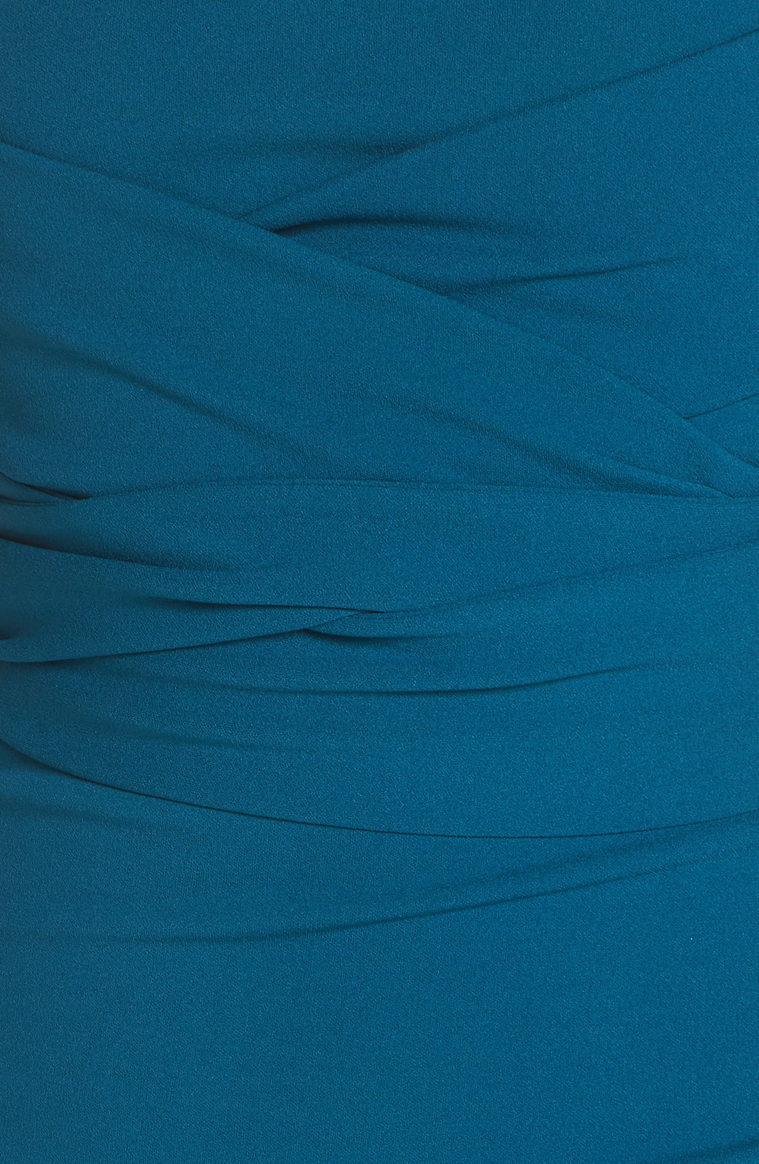 Own the Night Strapless Maxi Dress,                             Alternate thumbnail 6, color,                             TURQUOISE